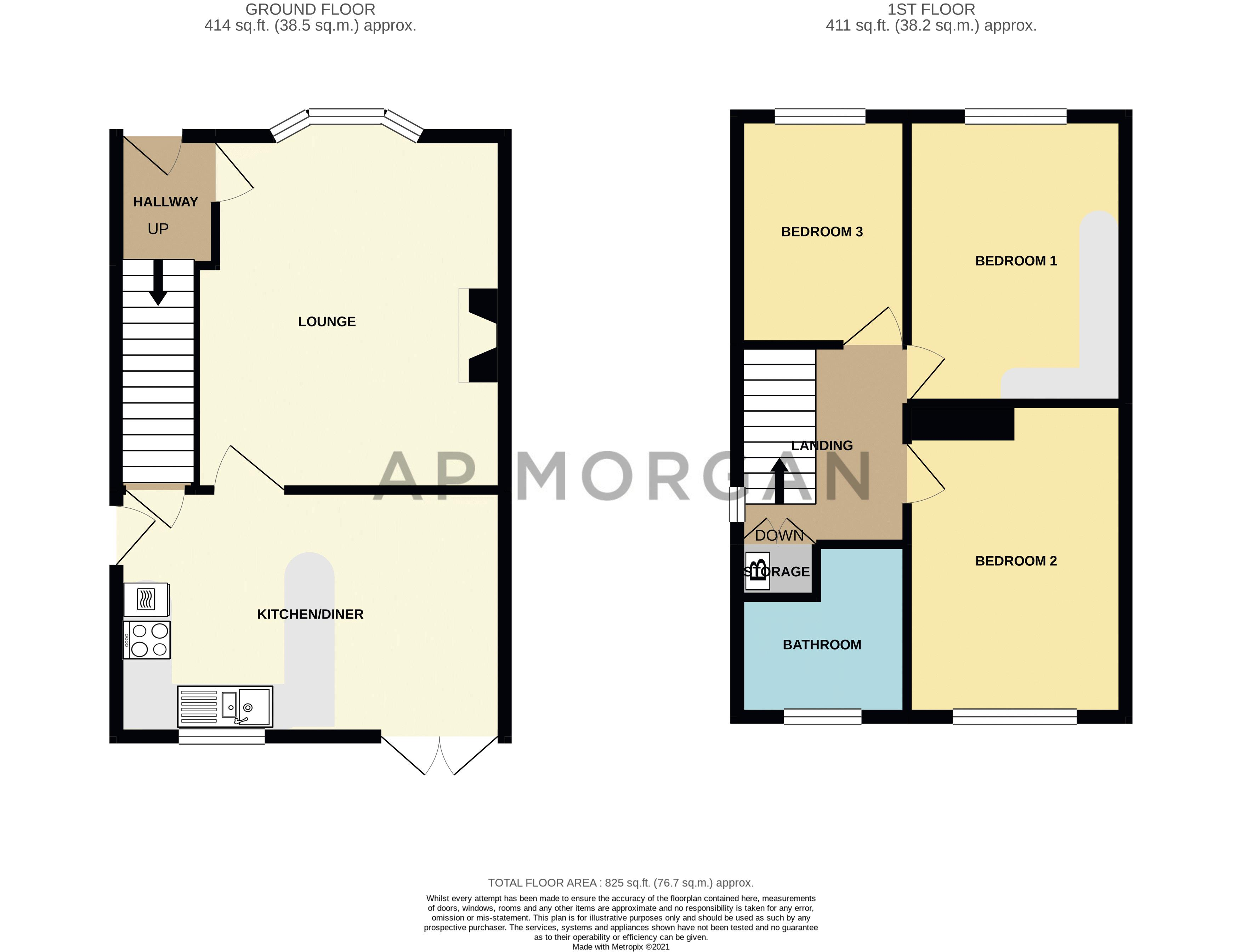 3 bed house for sale in Orwell Close - Property Floorplan