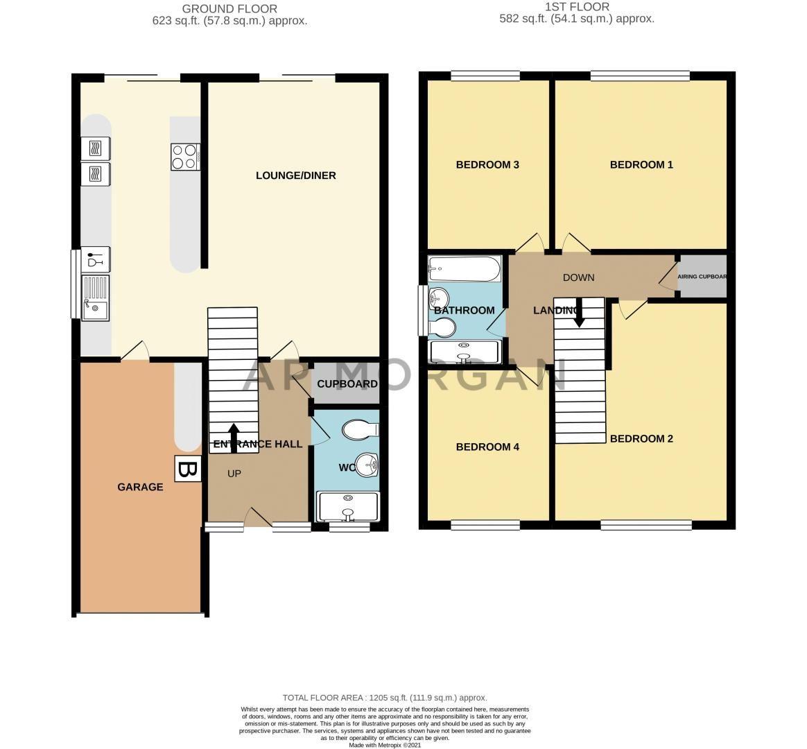 4 bed house for sale in Sunbury Road - Property Floorplan