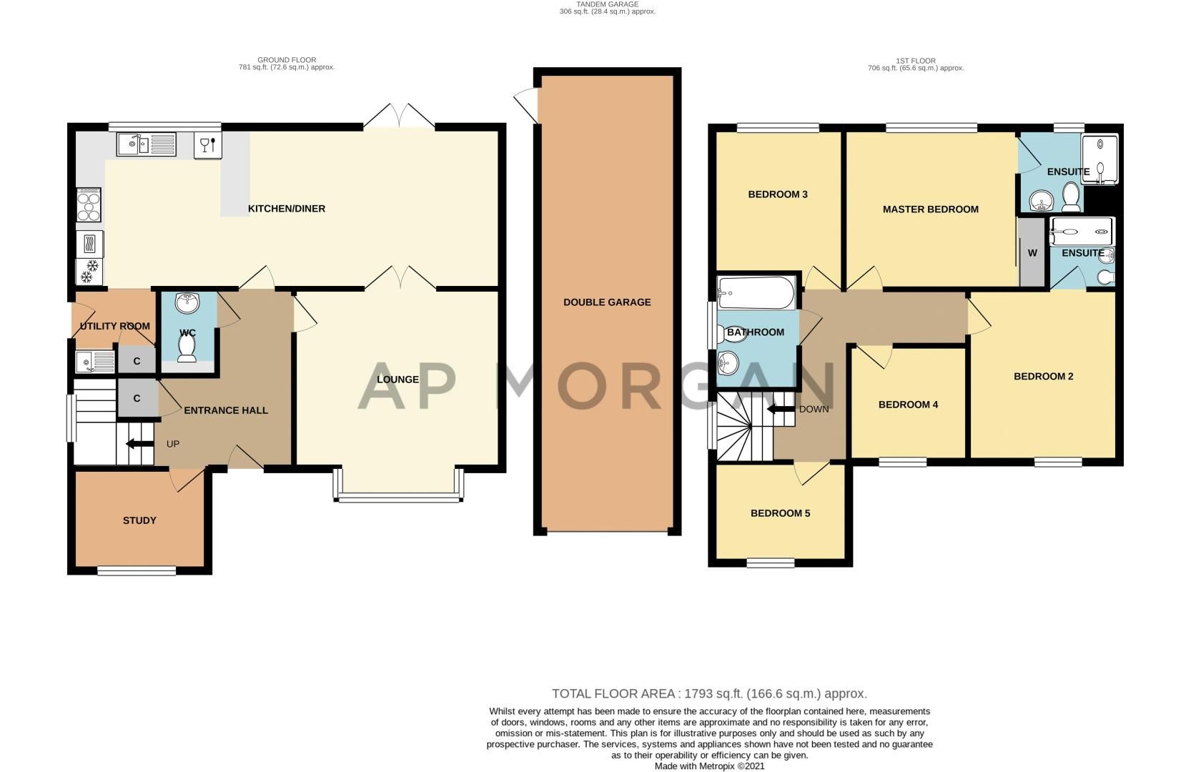 5 bed house for sale in Kingcup Close - Property Floorplan