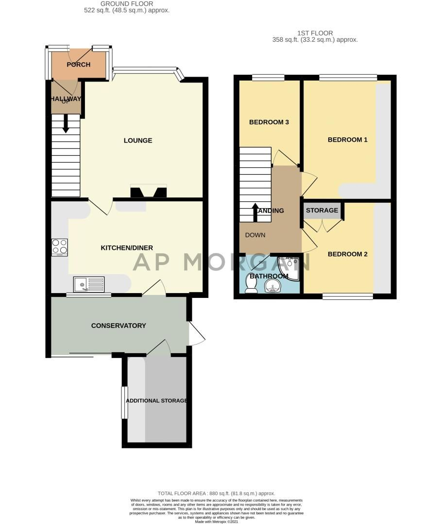 3 bed house for sale in Newhall Road - Property Floorplan