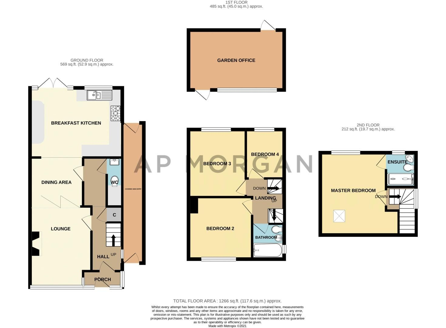 4 bed house for sale in Warwick Road - Property Floorplan