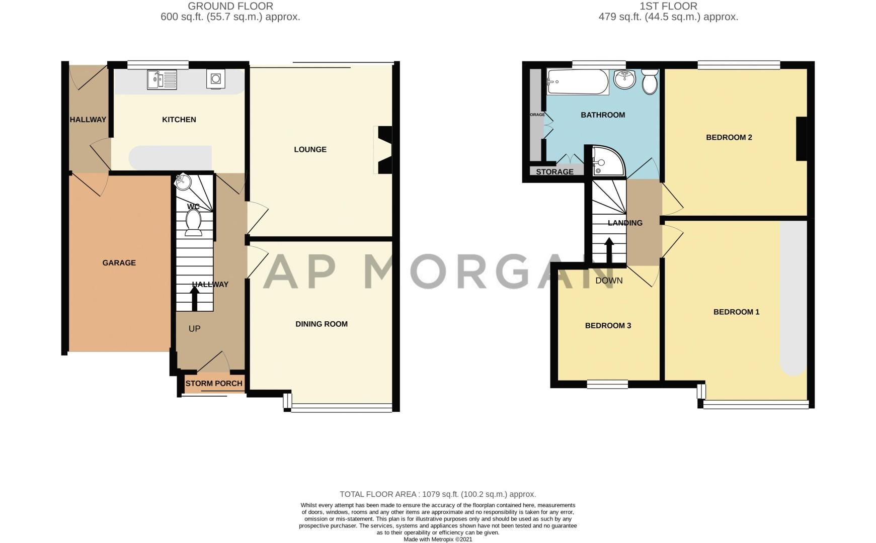 3 bed house for sale in Drew Road - Property Floorplan