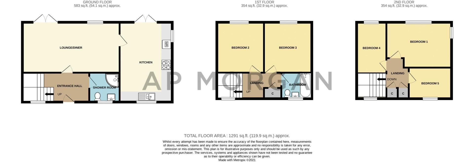 5 bed house for sale in High Trees Close - Property Floorplan