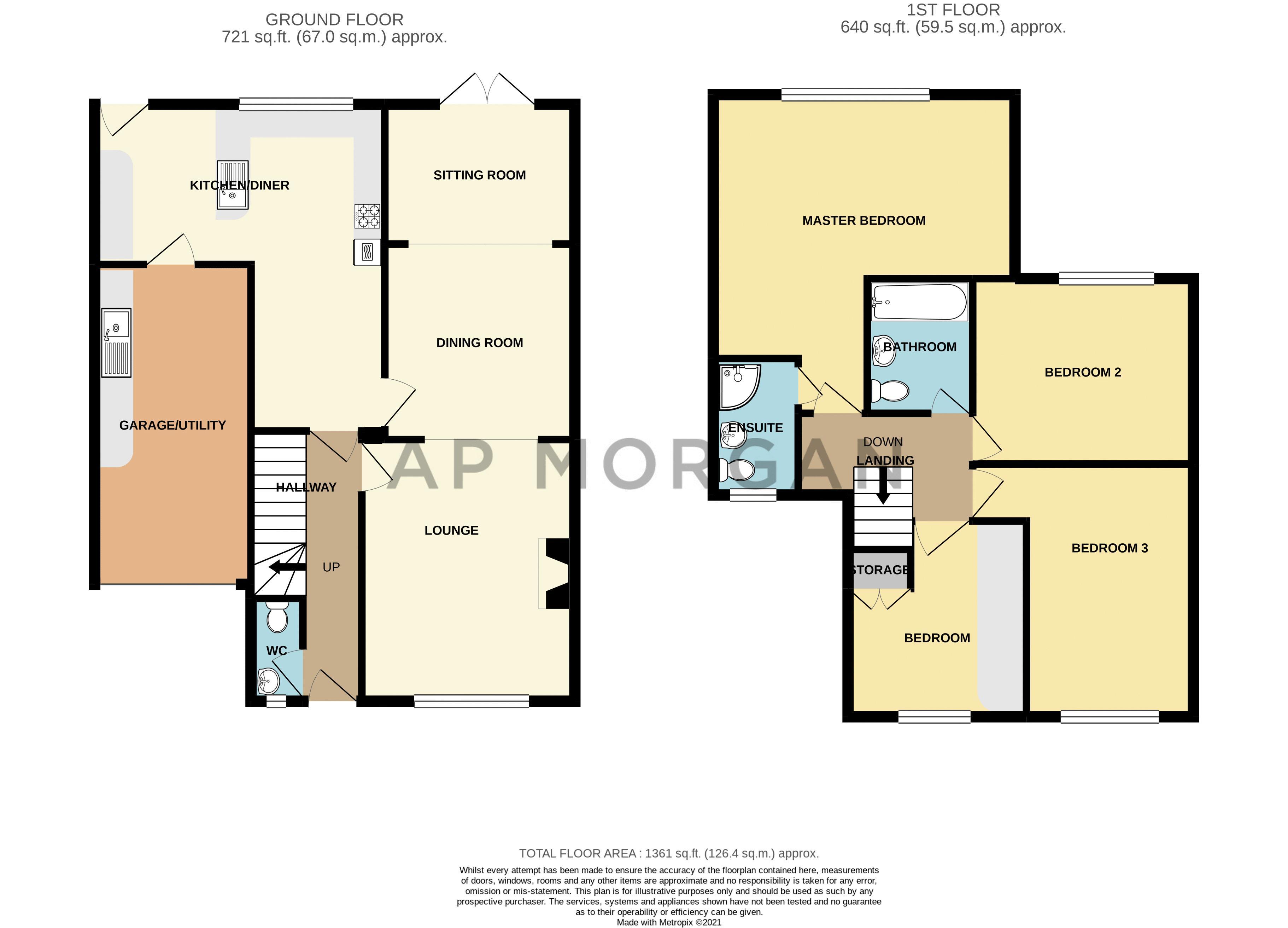 4 bed house for sale in Brockmoor Close - Property Floorplan