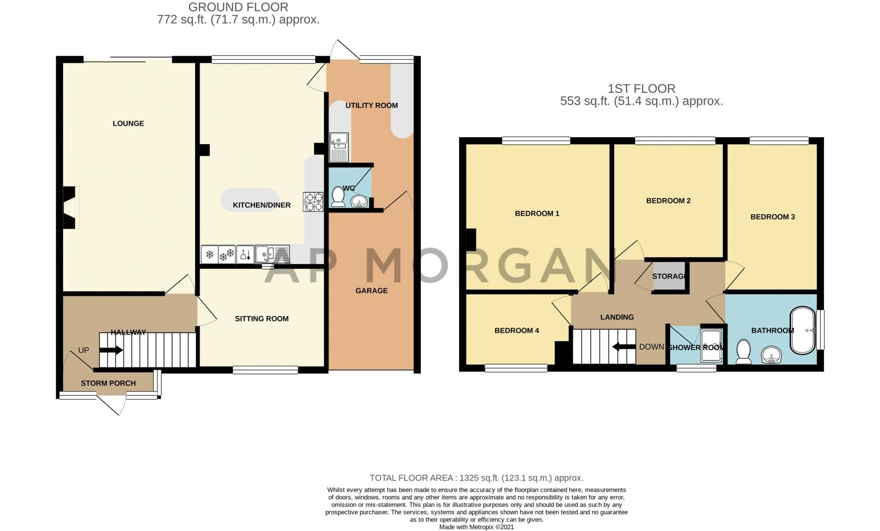 4 bed house for sale in Leavale Road - Property Floorplan