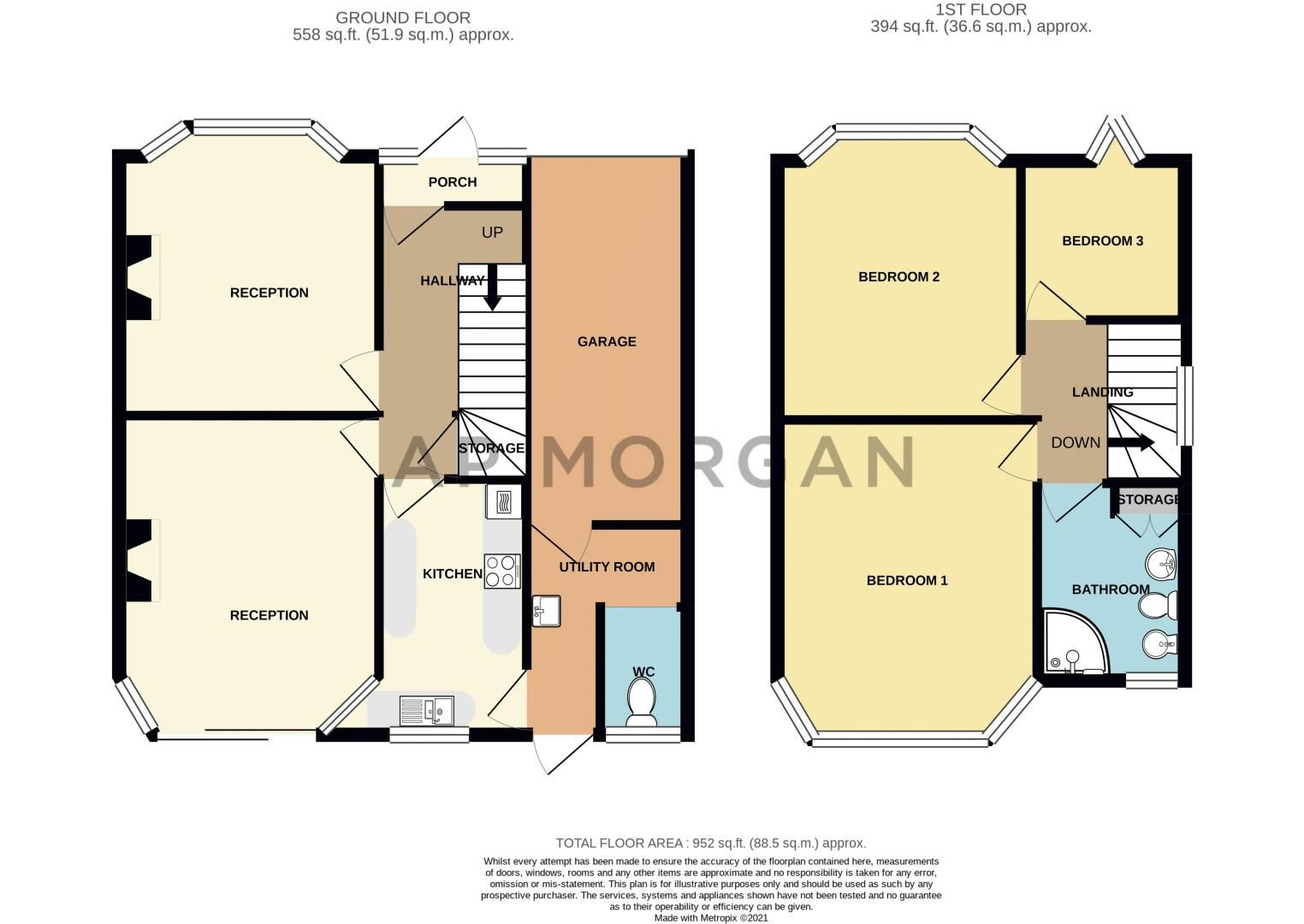 3 bed house for sale in Frankley Avenue - Property Floorplan