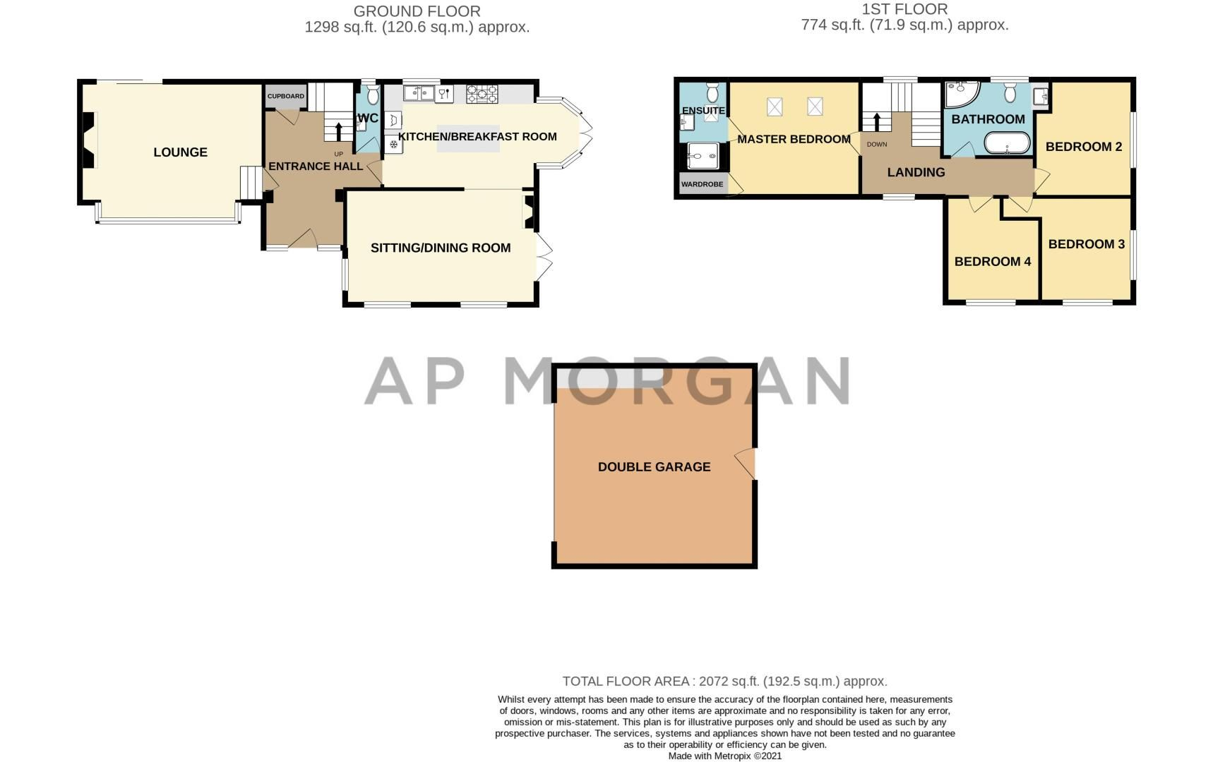 4 bed house for sale in Parish Hill - Property Floorplan