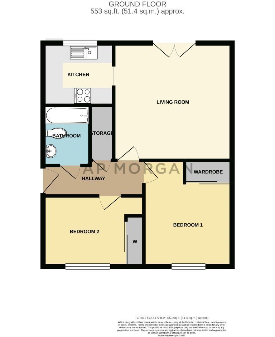 2 bed flat for sale in Railway Walk - Property Floorplan