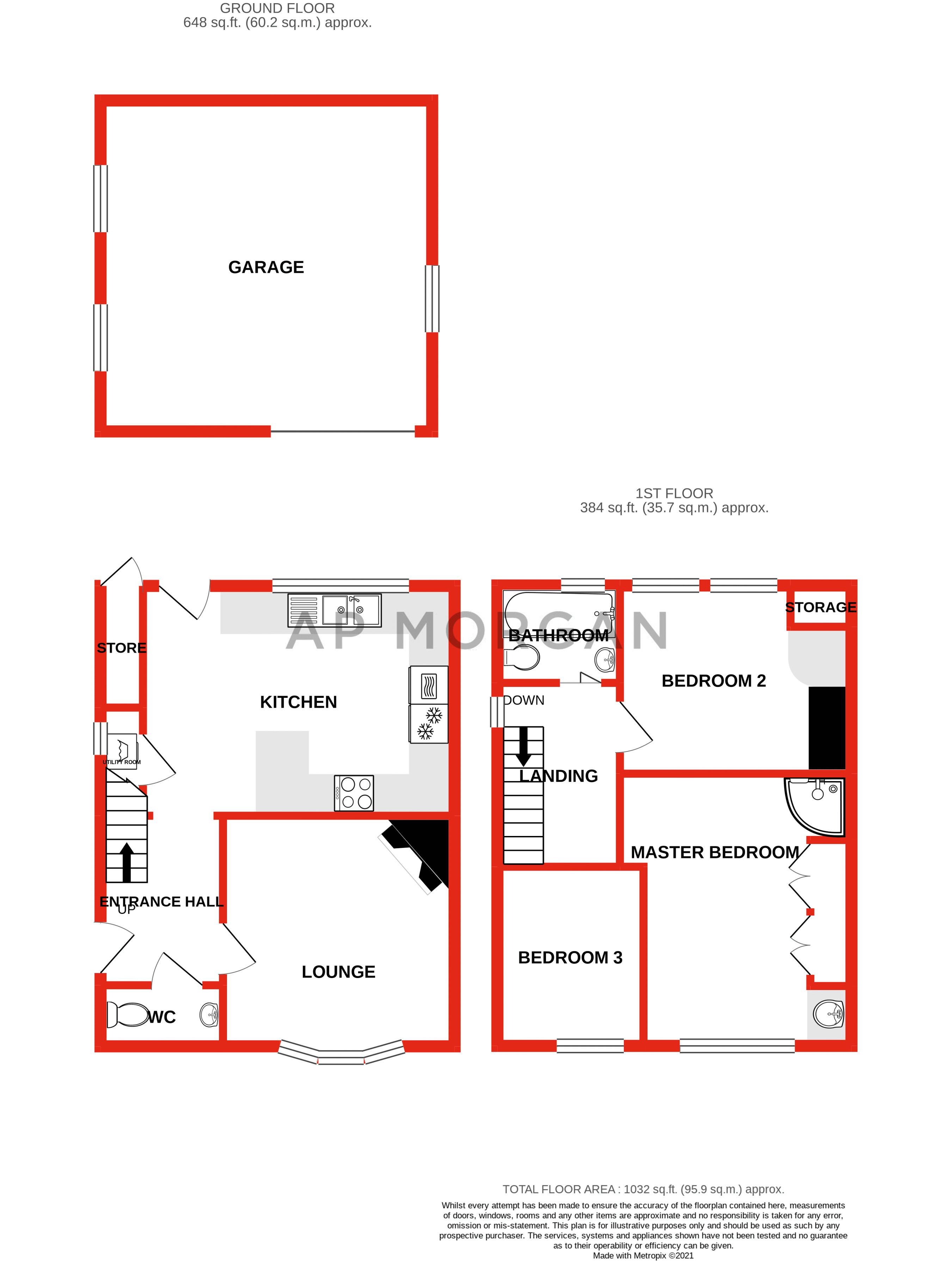 3 bed house for sale in Cook Avenue - Property Floorplan