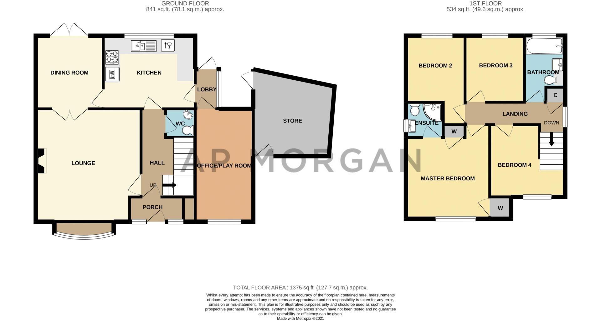 4 bed house for sale in Badbury Gardens - Property Floorplan