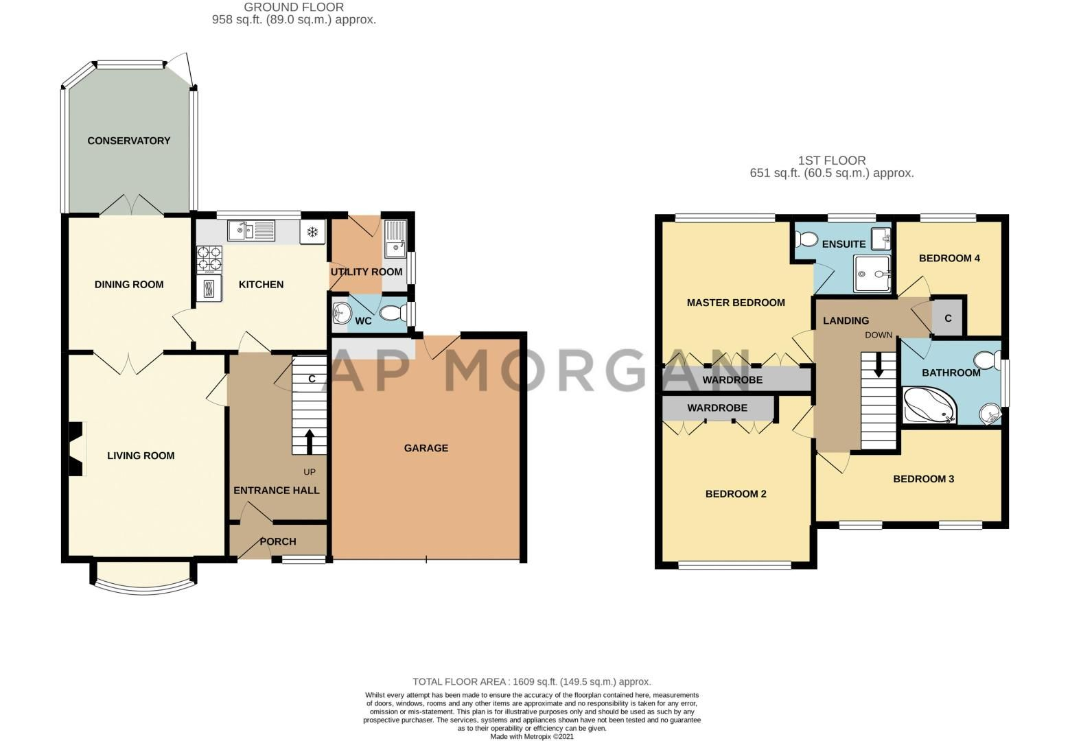 4 bed house for sale in Lechlade Close - Property Floorplan