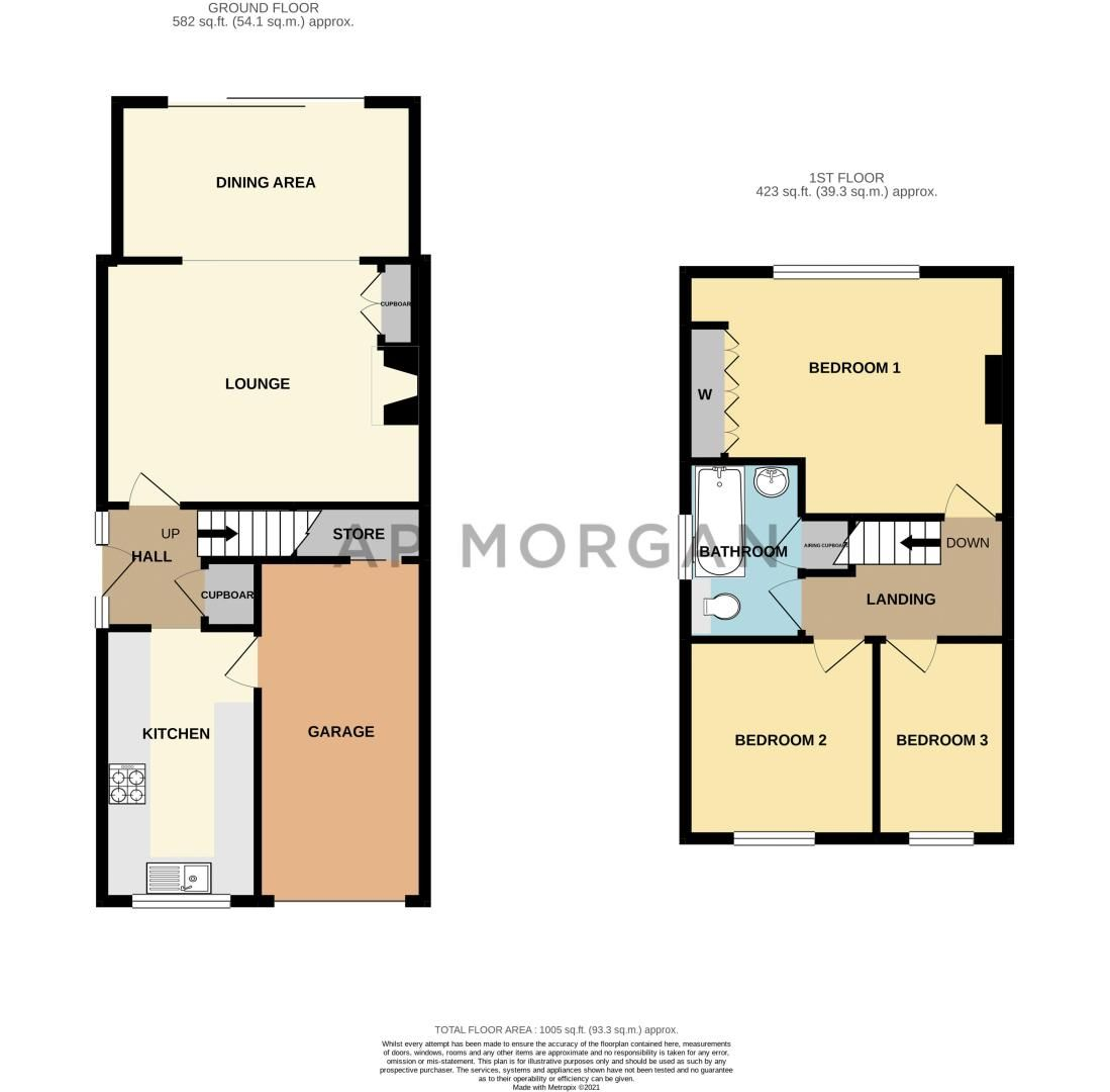3 bed house for sale in Scafell Road - Property Floorplan