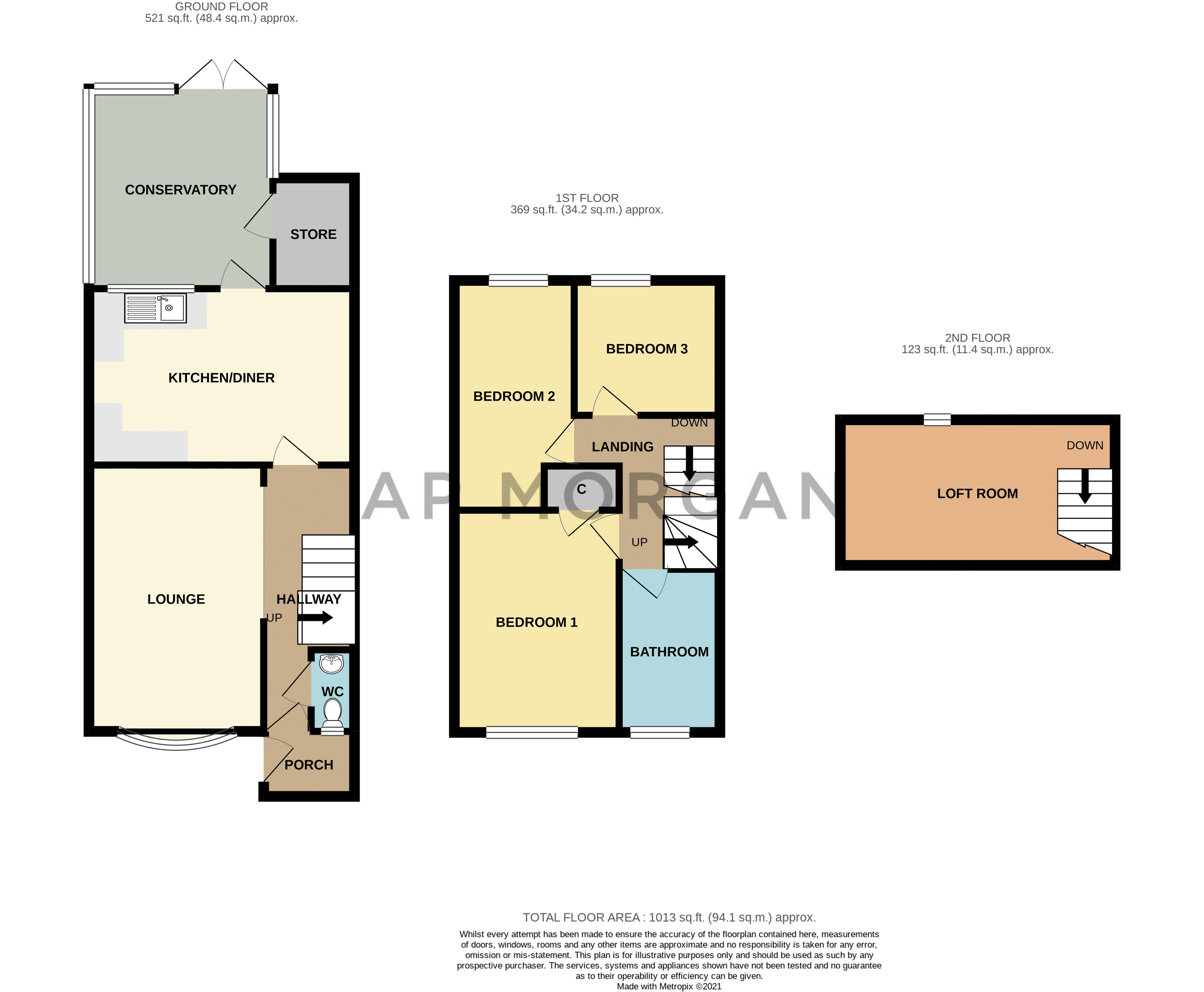 3 bed house for sale in Upper Close - Property Floorplan