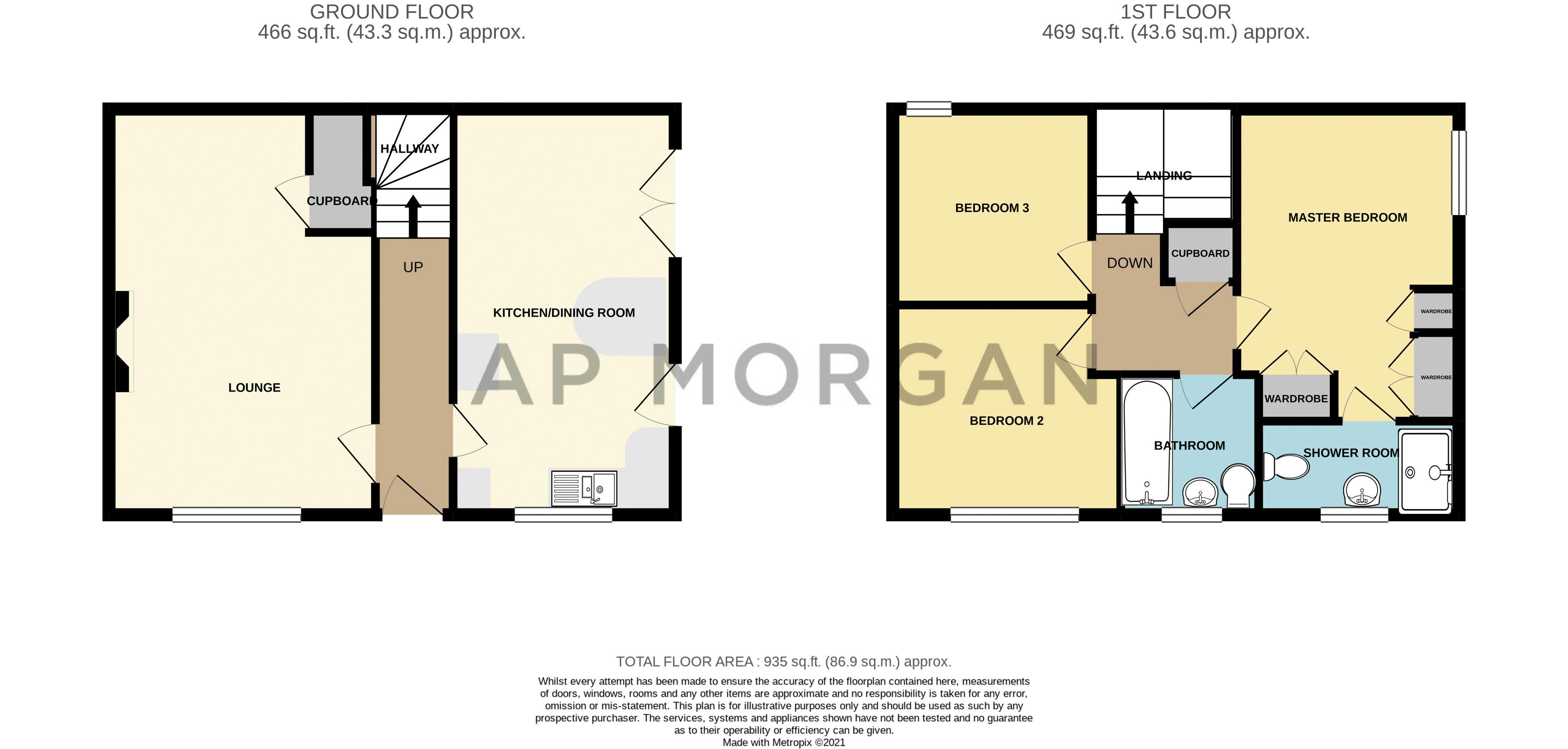 3 bed house for sale in Mill Court - Property Floorplan