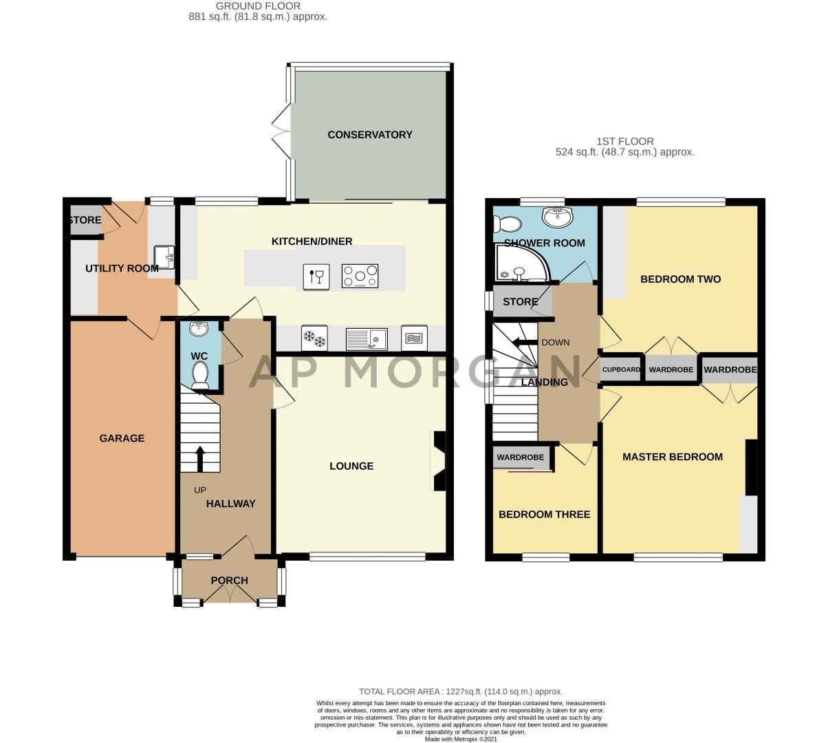 3 bed house for sale in Lickey Coppice - Property Floorplan