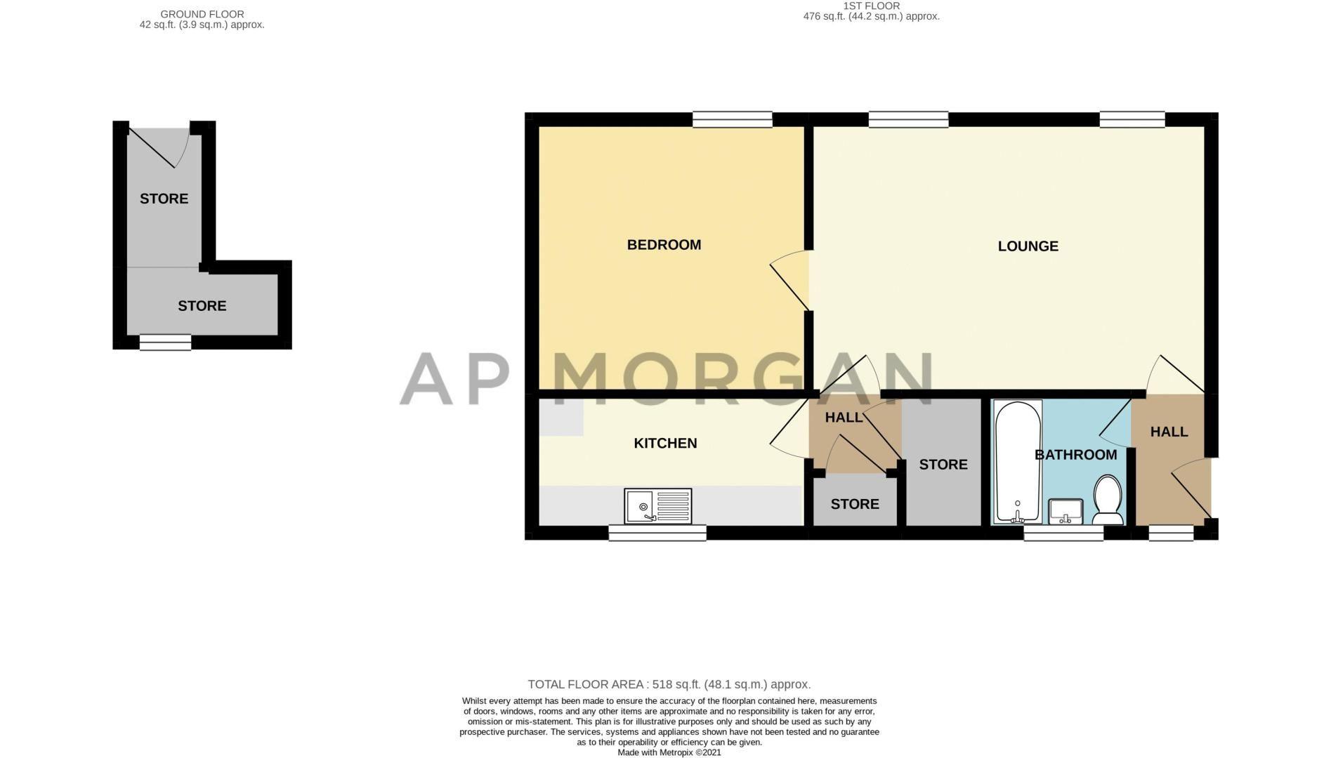 1 bed flat for sale in Binton Close - Property Floorplan