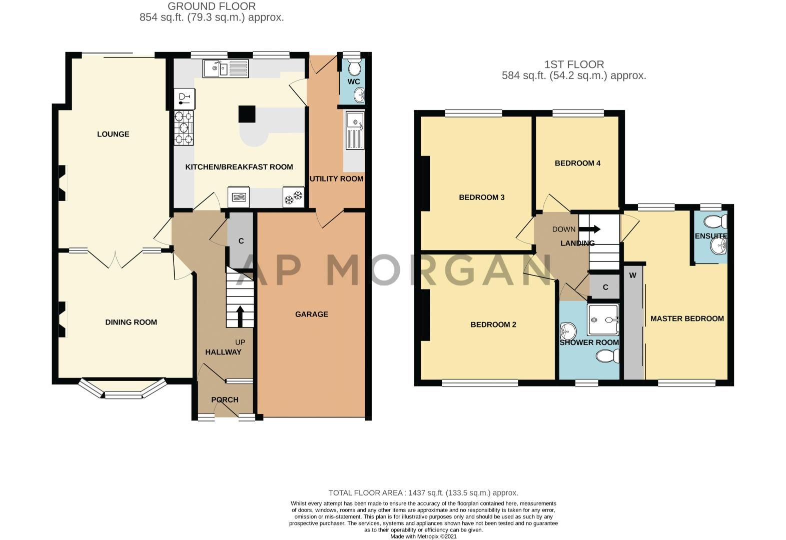 4 bed house for sale in Monument Lane - Property Floorplan