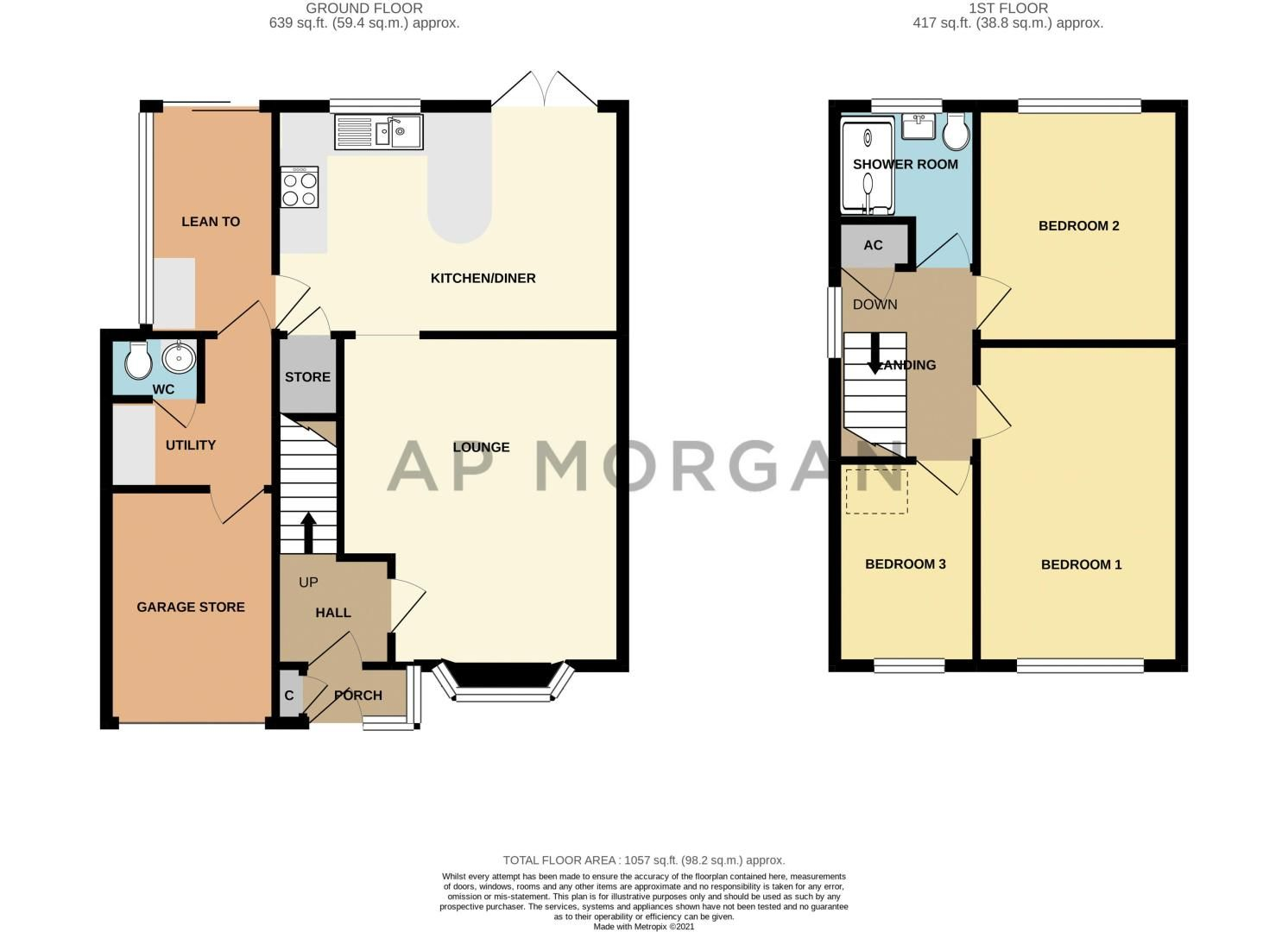 3 bed house for sale in Marshwood Croft - Property Floorplan