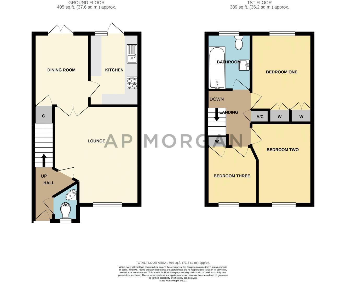 3 bed house for sale in Britannia Close - Property Floorplan