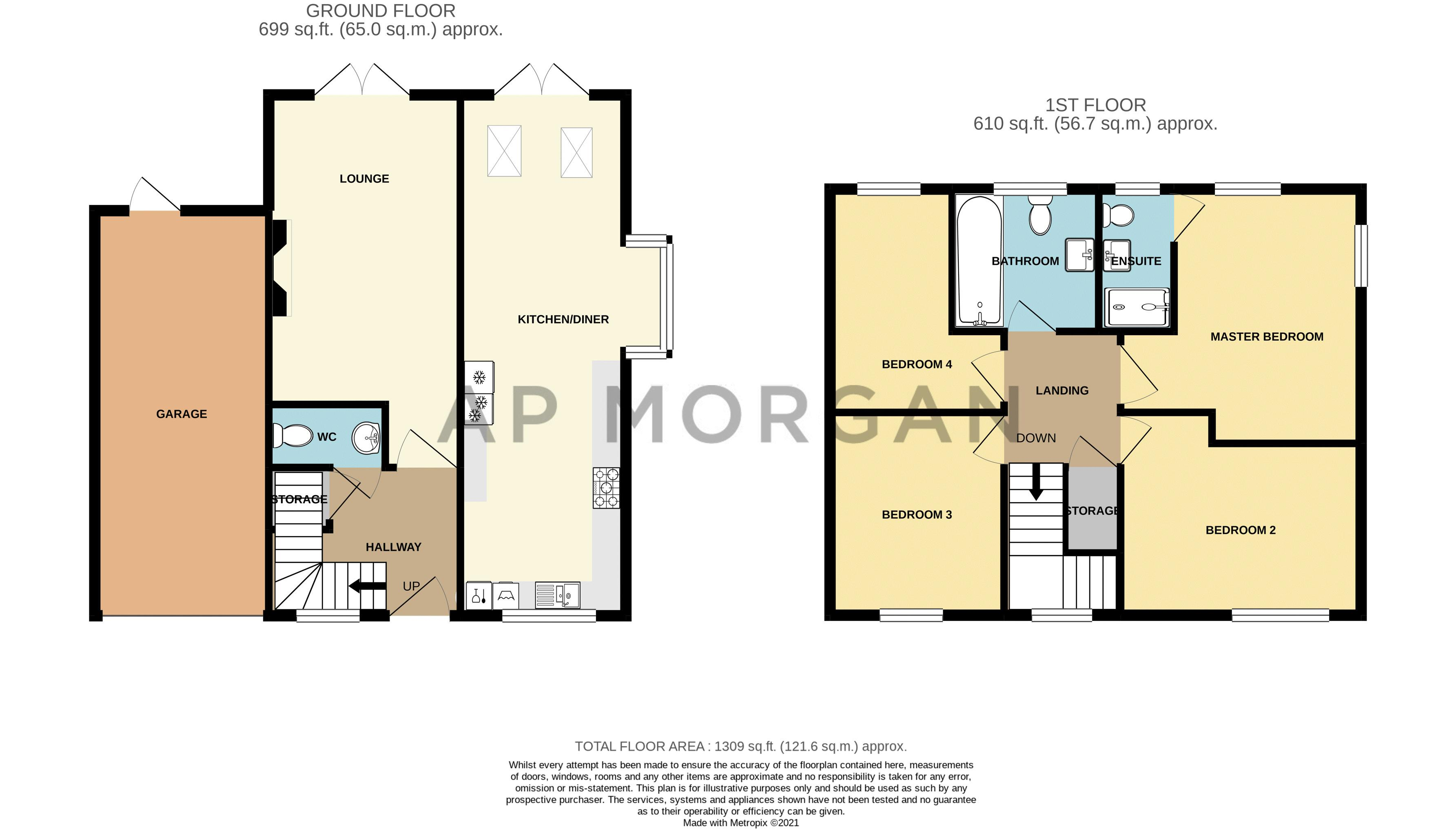 4 bed house for sale in Aynsley Drive - Property Floorplan
