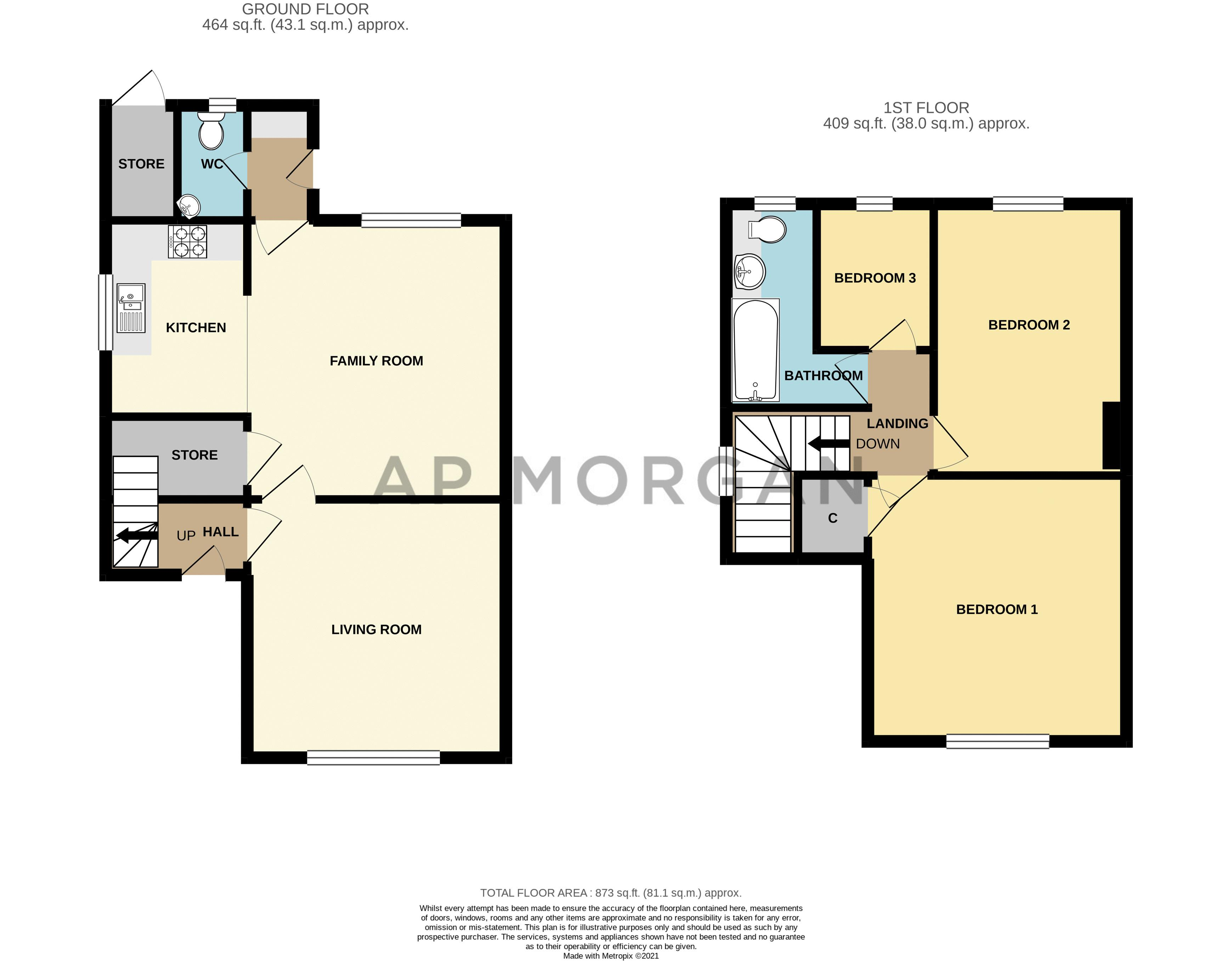 3 bed house for sale in Highfield Avenue - Property Floorplan