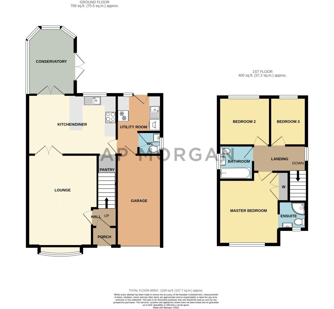 3 bed house for sale in Home Meadow Lane - Property Floorplan
