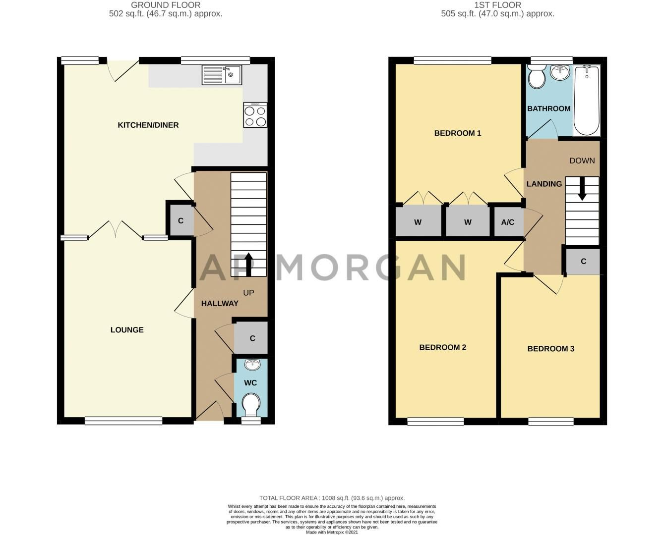 3 bed house for sale in Barnwood Close - Property Floorplan