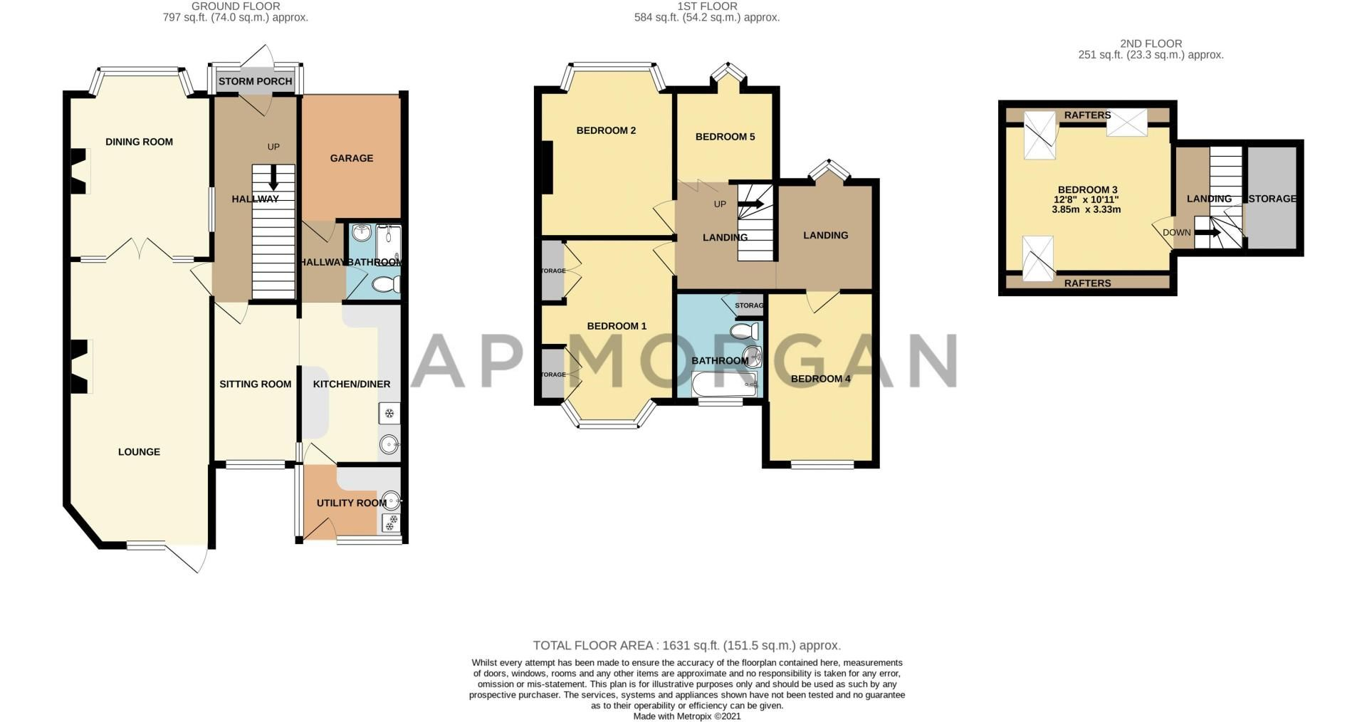 5 bed house for sale in Spies Lane - Property Floorplan