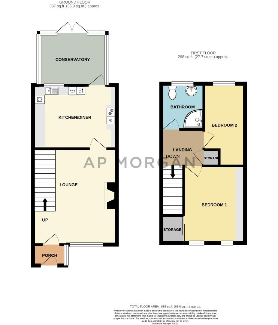 2 bed house for sale in Blithe Close - Property Floorplan