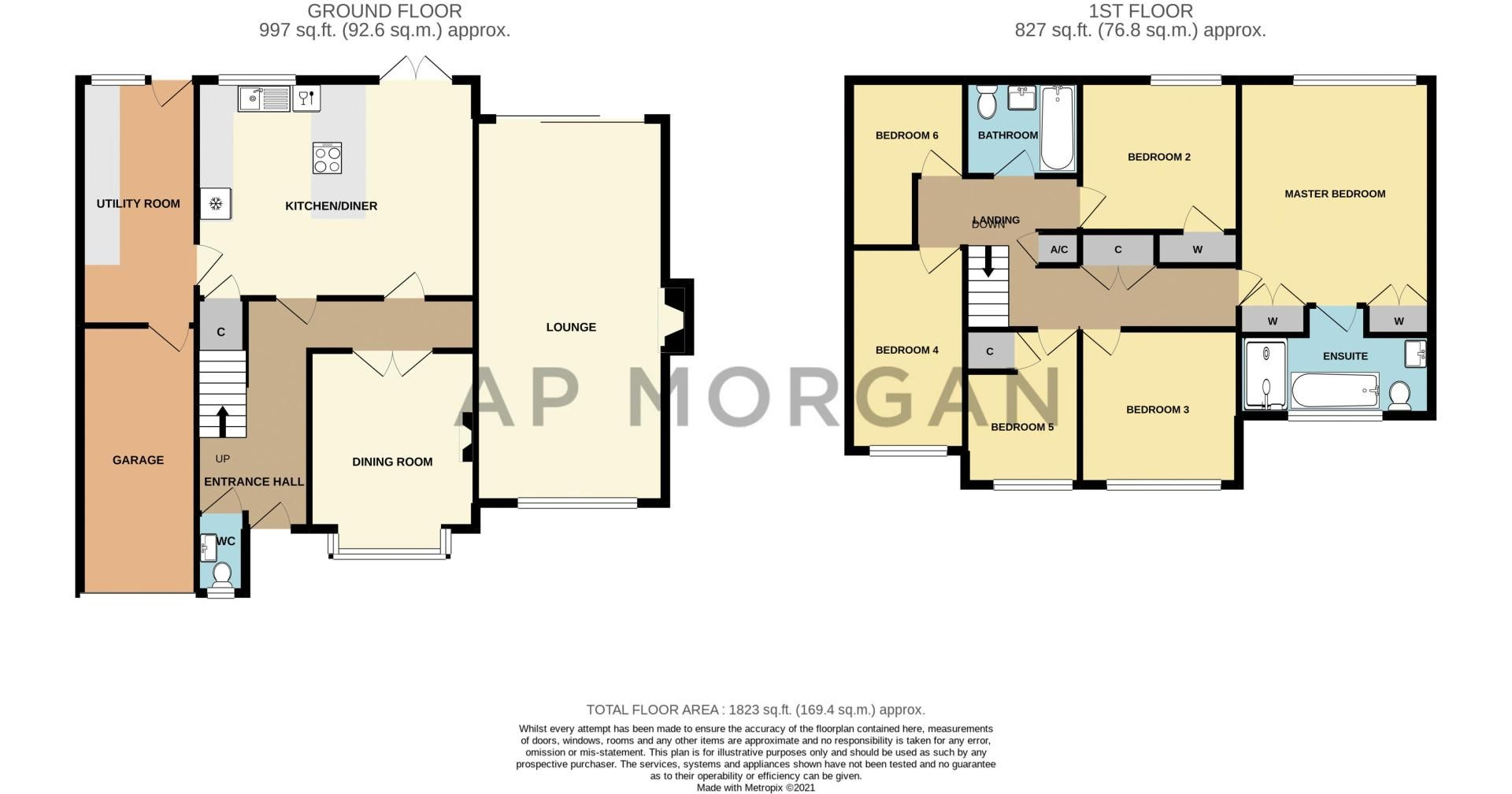 6 bed house for sale in Stableford Close - Property Floorplan