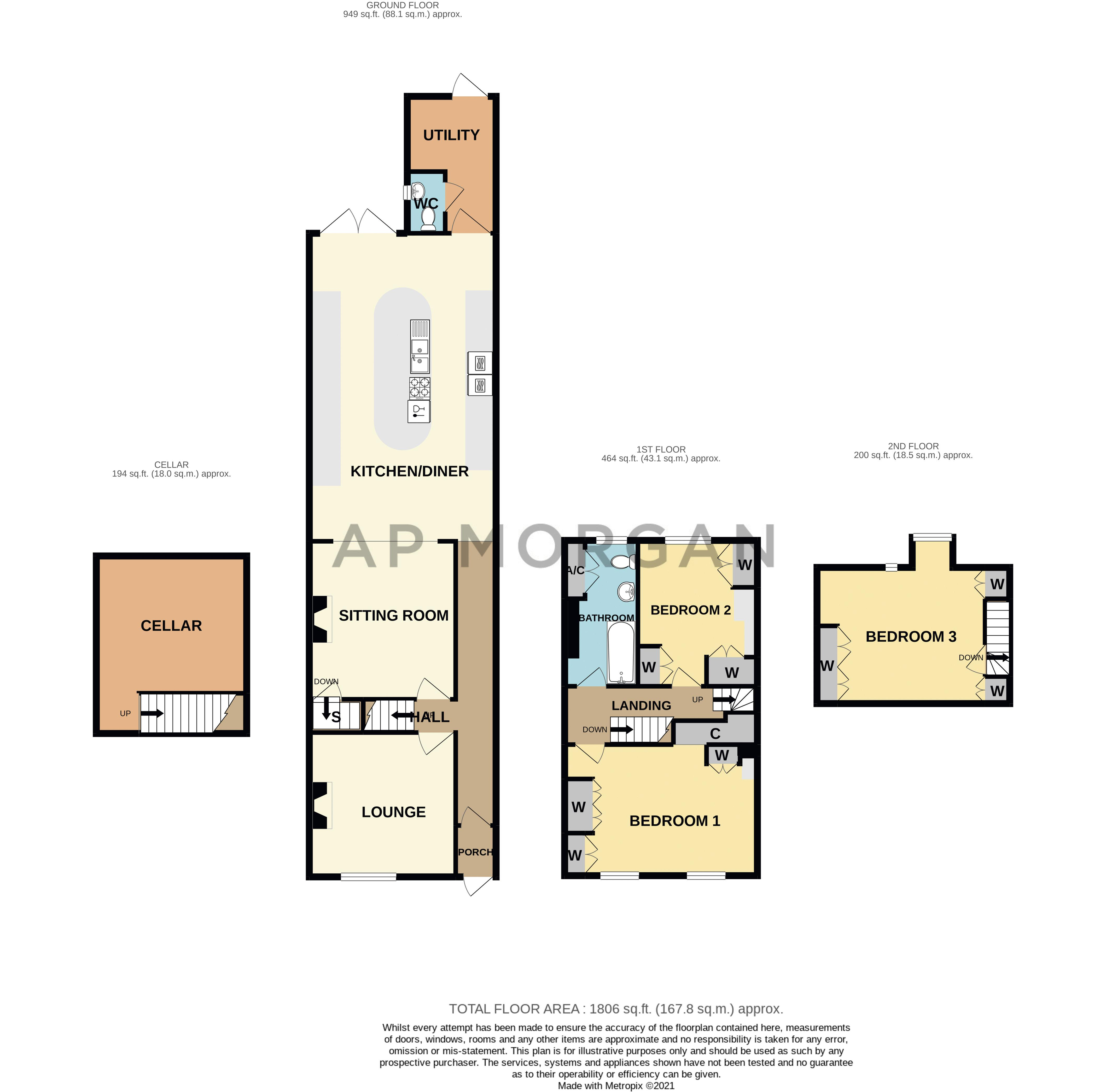 3 bed house for sale in Lorne Street - Property Floorplan