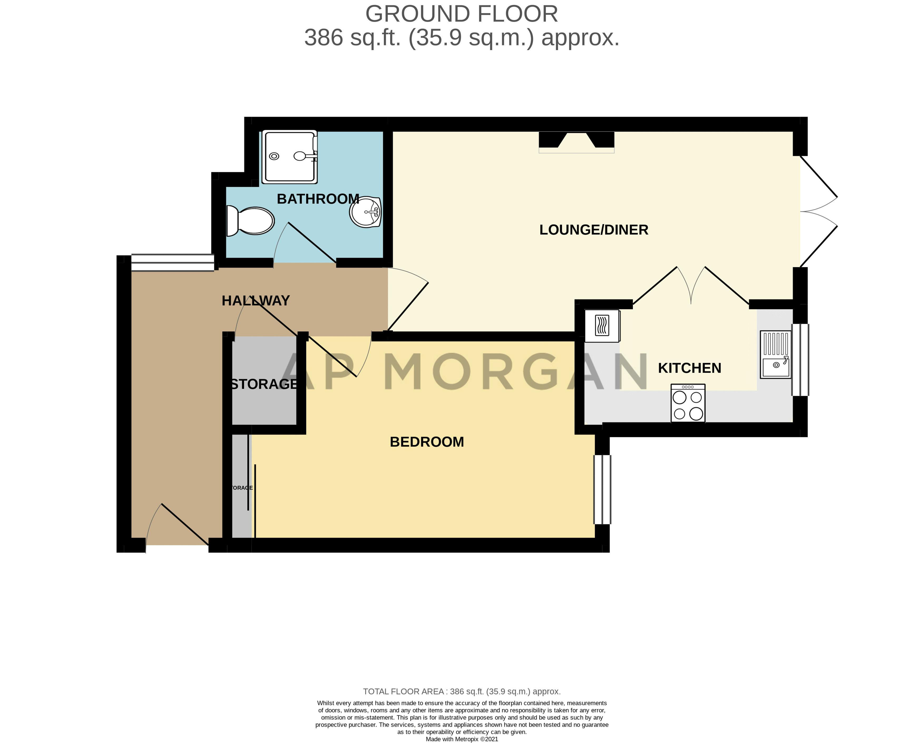 1 bed flat for sale in Drury Lane - Property Floorplan