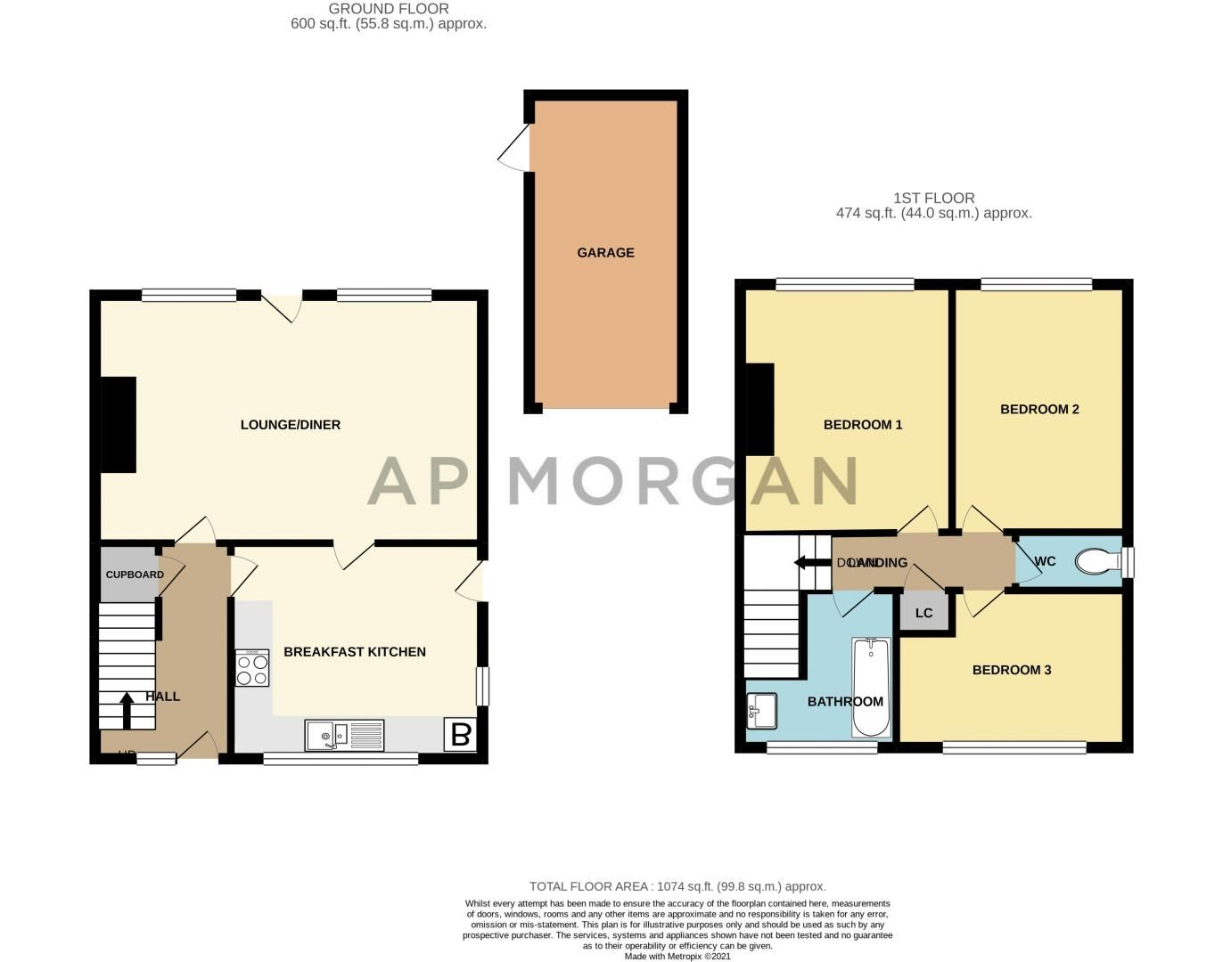3 bed house for sale in Carters Lane - Property Floorplan