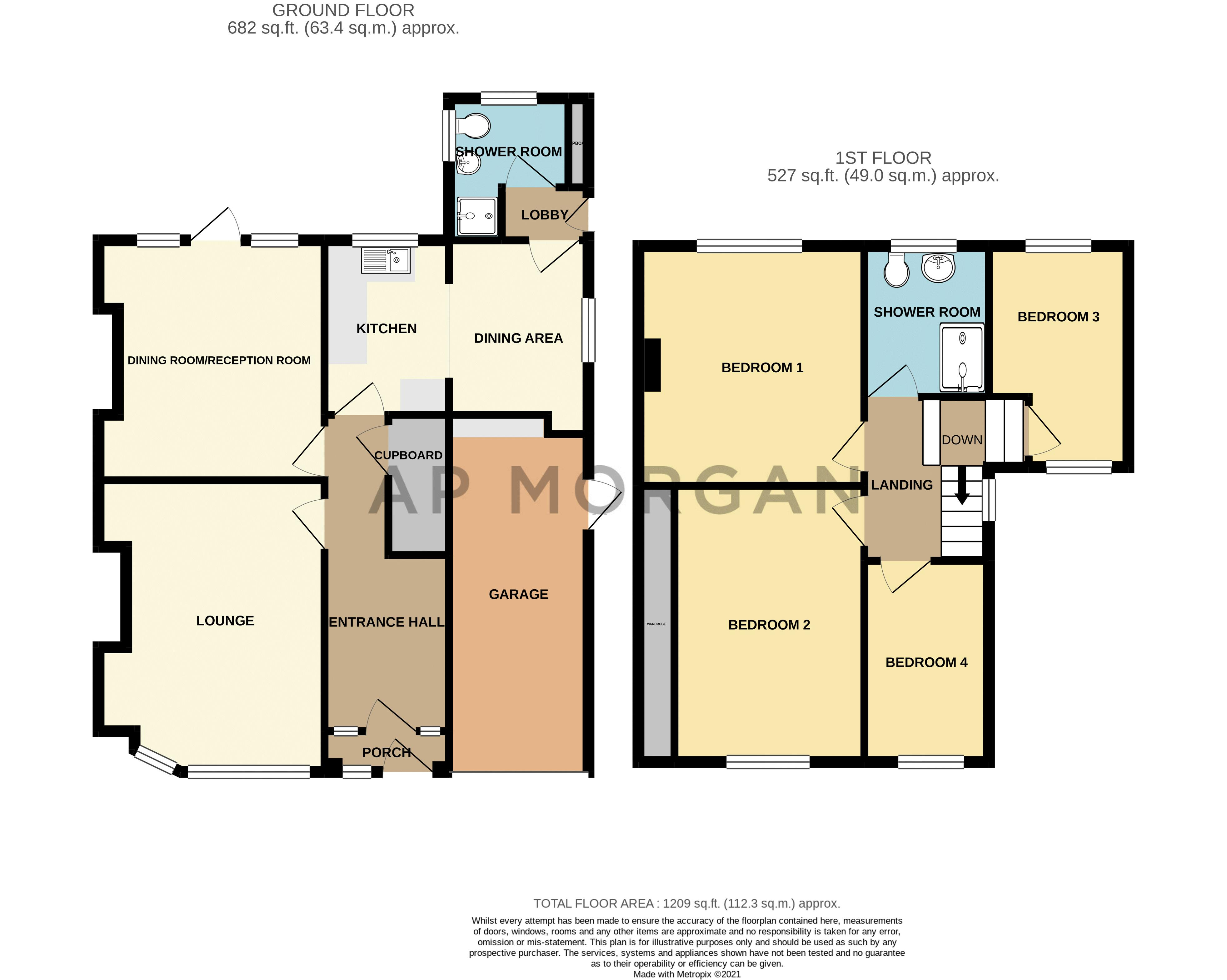 4 bed house for sale in Castle Grove - Property Floorplan