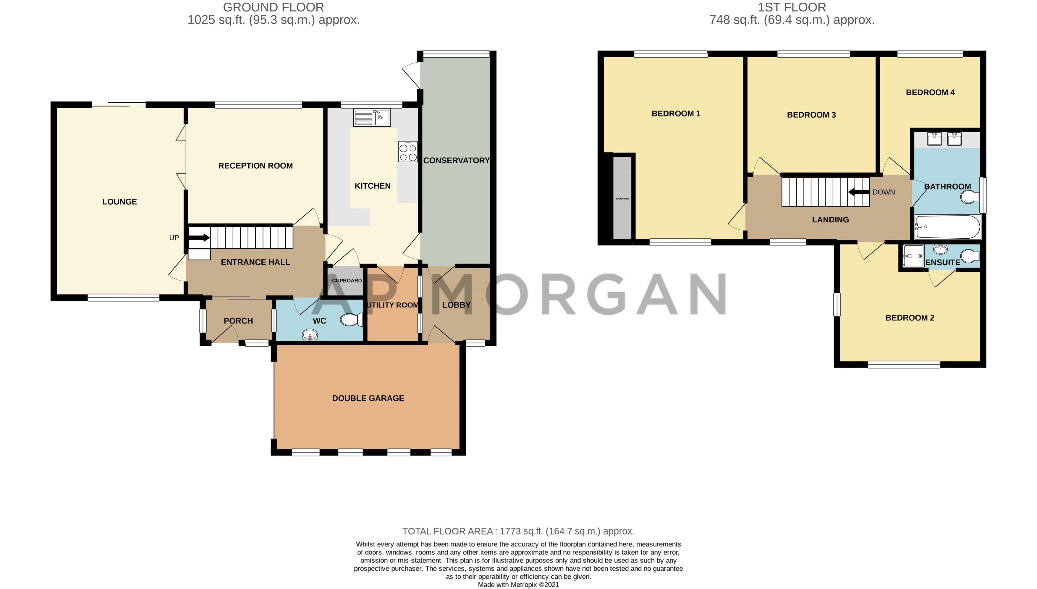 4 bed house for sale in Cochrane Close - Property Floorplan