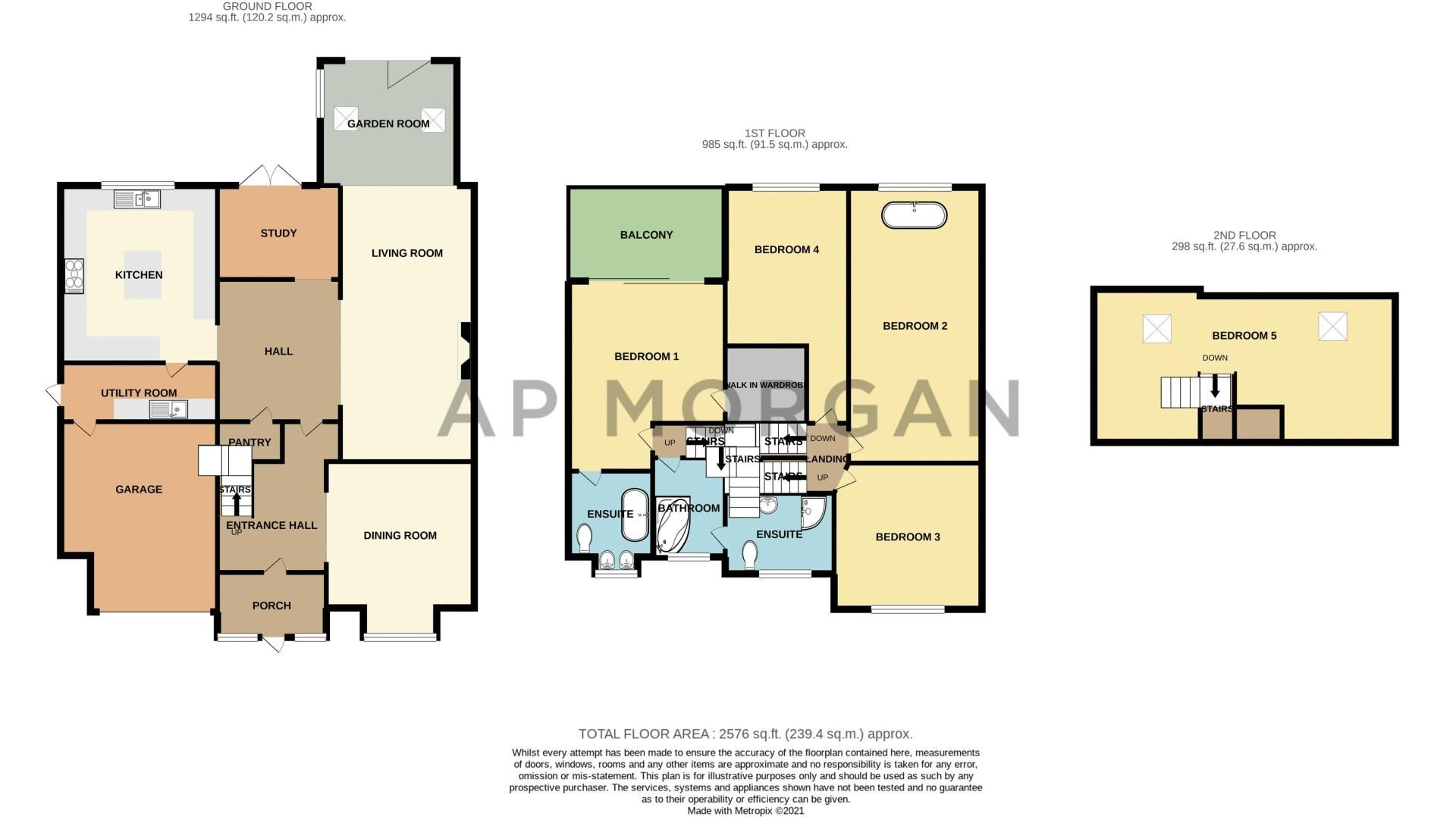 5 bed house for sale in Parkland Avenue - Property Floorplan