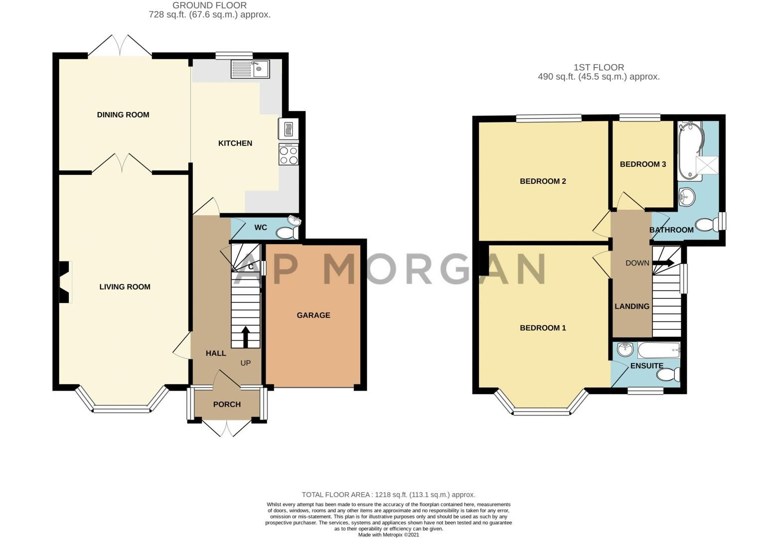 3 bed house for sale in Meadowhill Crescent - Property Floorplan