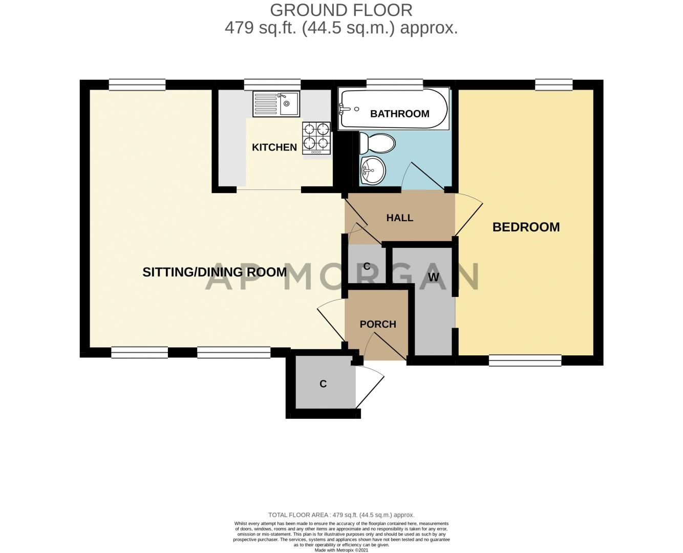 1 bed flat for sale in Thatchers Green - Property Floorplan