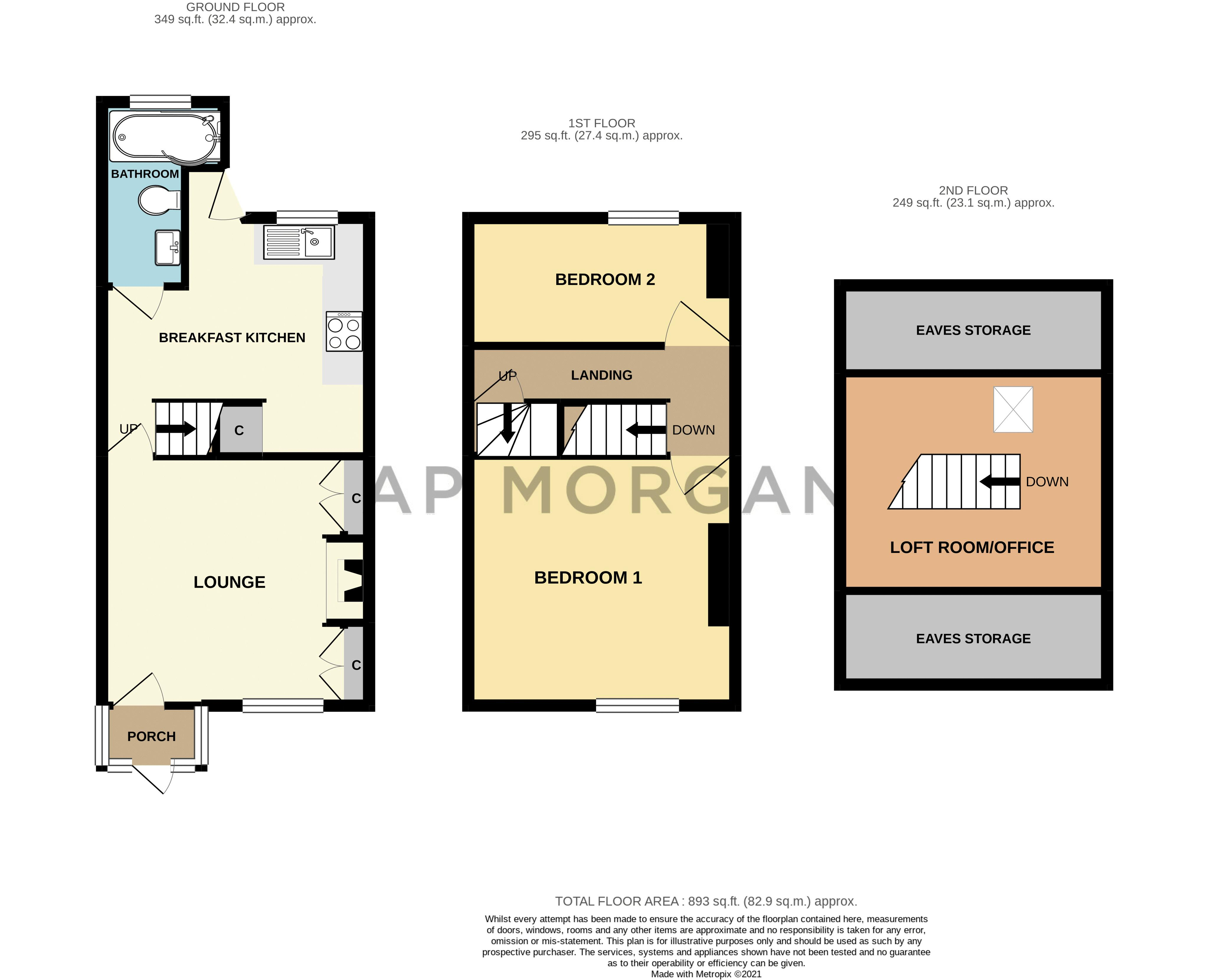 2 bed house for sale in Dodford Road - Property Floorplan