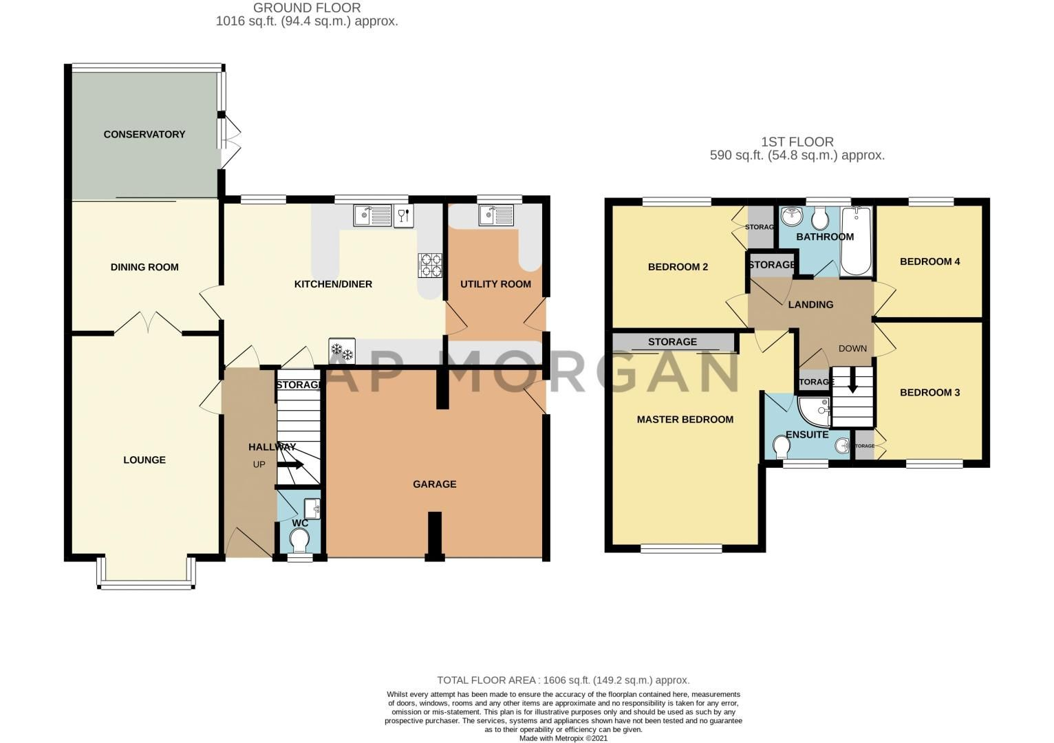 4 bed house for sale in Melrose Avenue - Property Floorplan