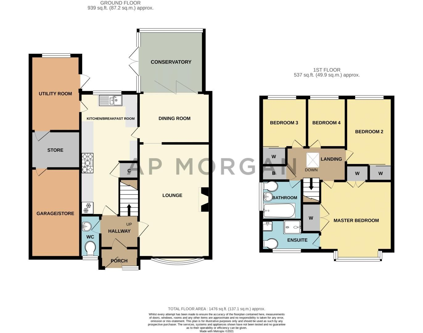 4 bed house for sale in Avoncroft Road - Property Floorplan