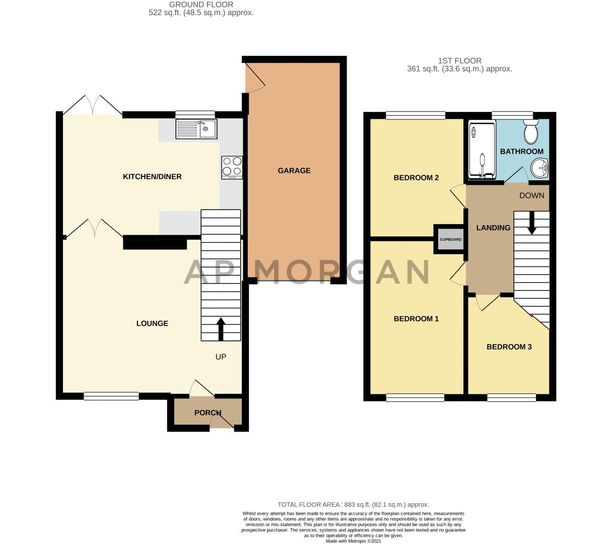 3 bed house for sale in Felbrigg Close - Property Floorplan