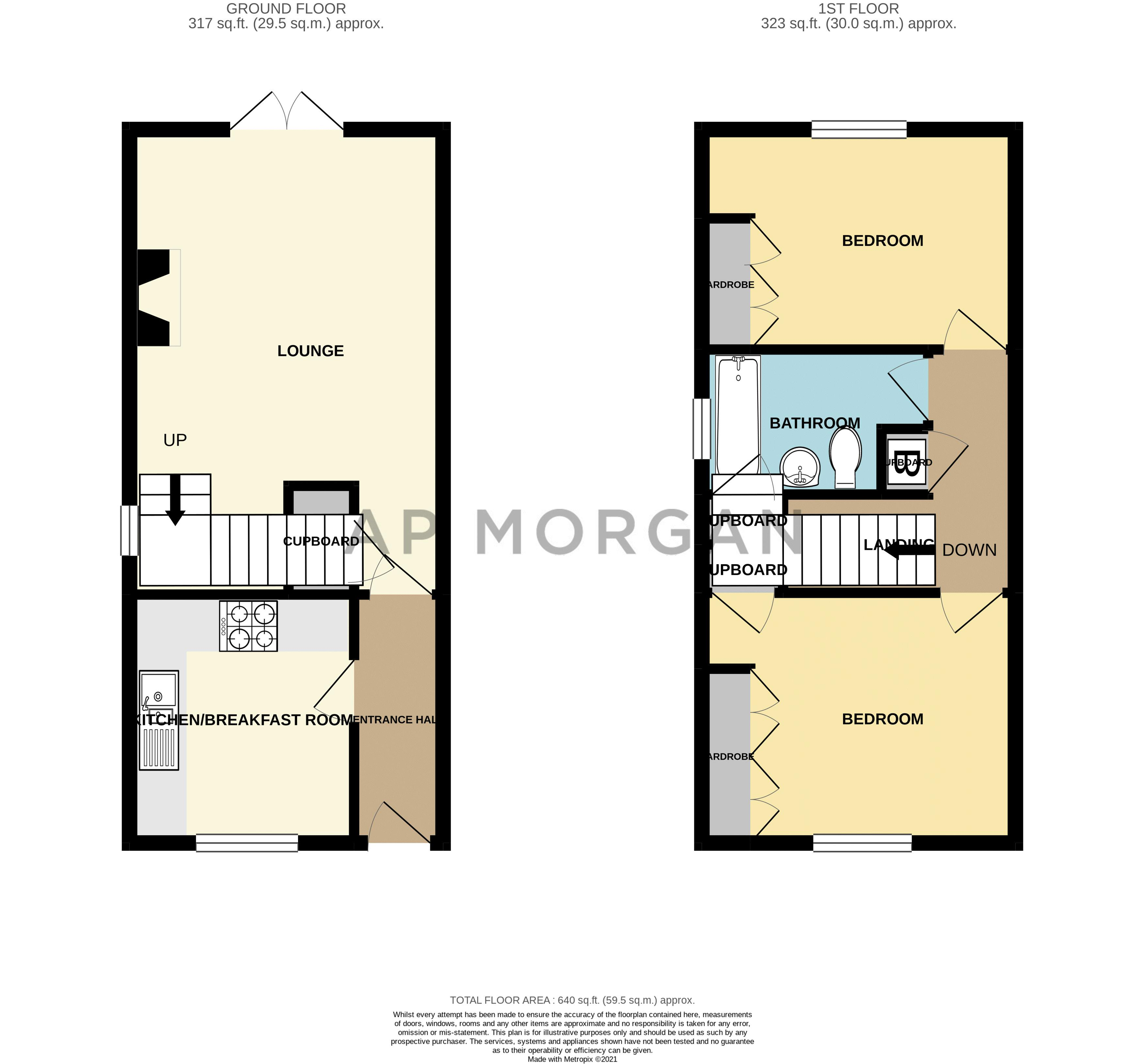 2 bed house for sale in Whitefriars Drive - Property Floorplan