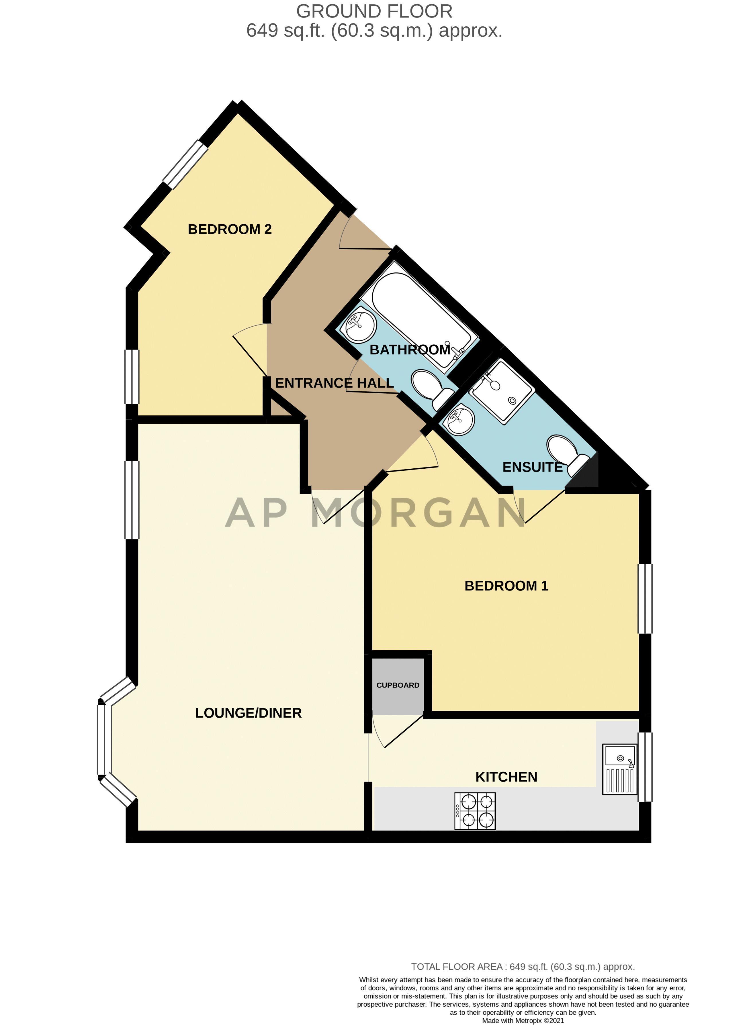 2 bed flat for sale in Trefoil Gardens - Property Floorplan