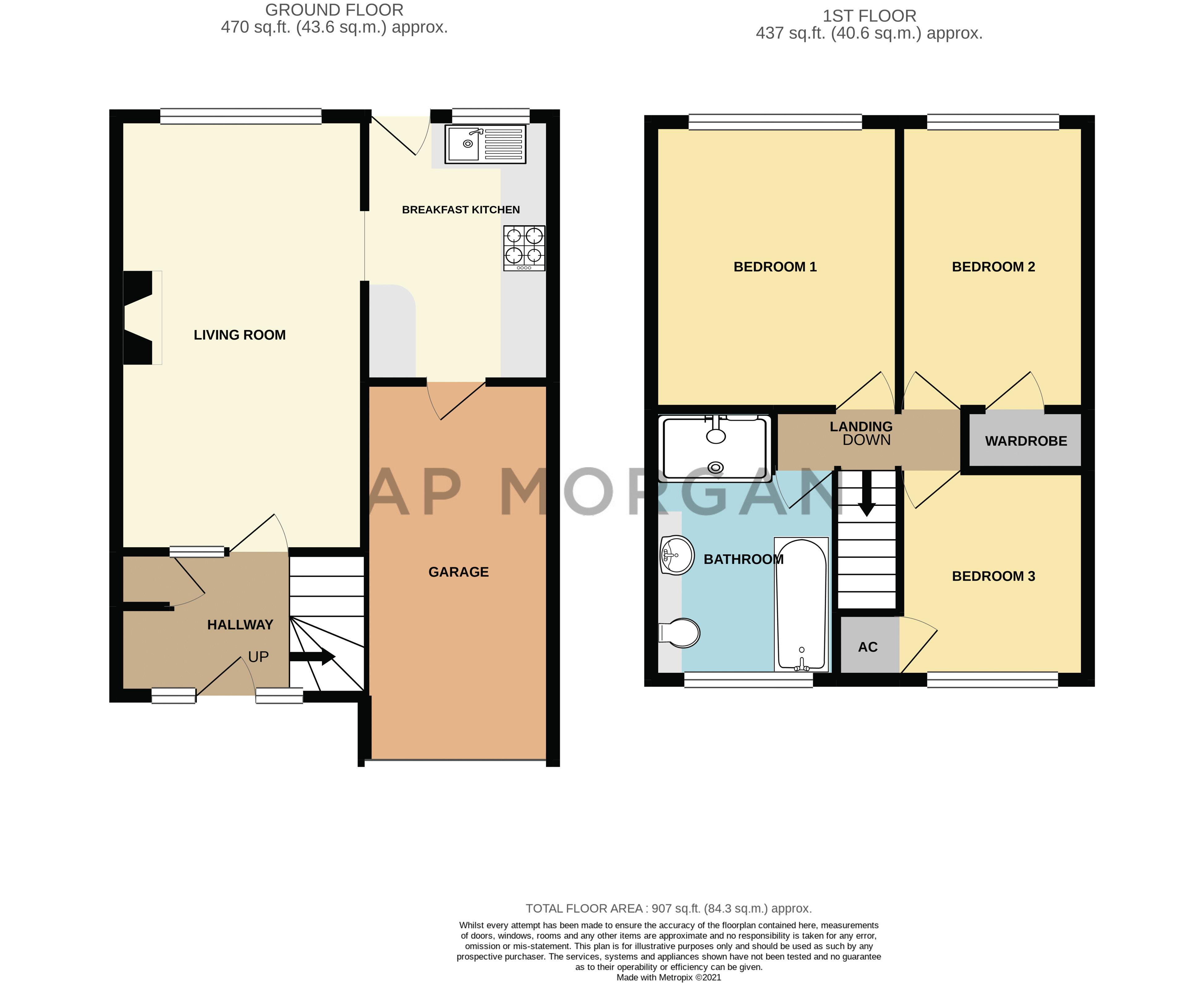 3 bed house for sale in Pinewood Drive - Property Floorplan