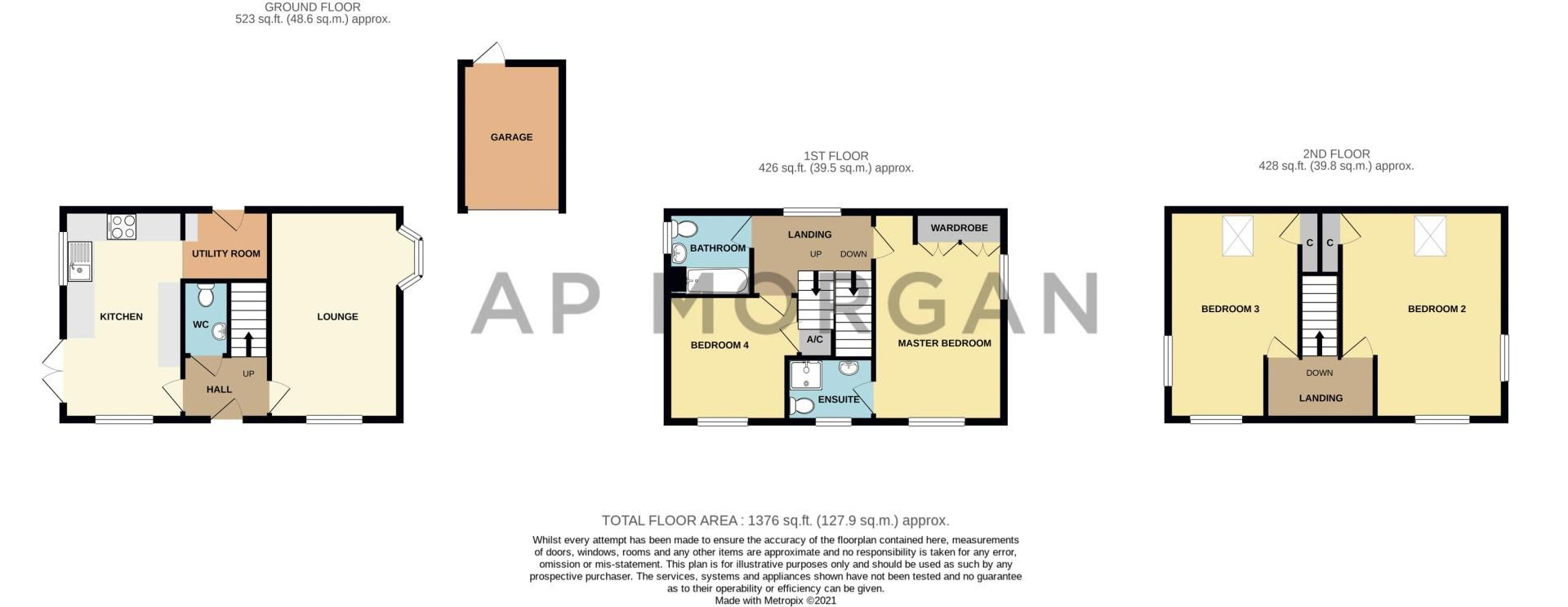 4 bed house for sale in Kite Lane - Property Floorplan