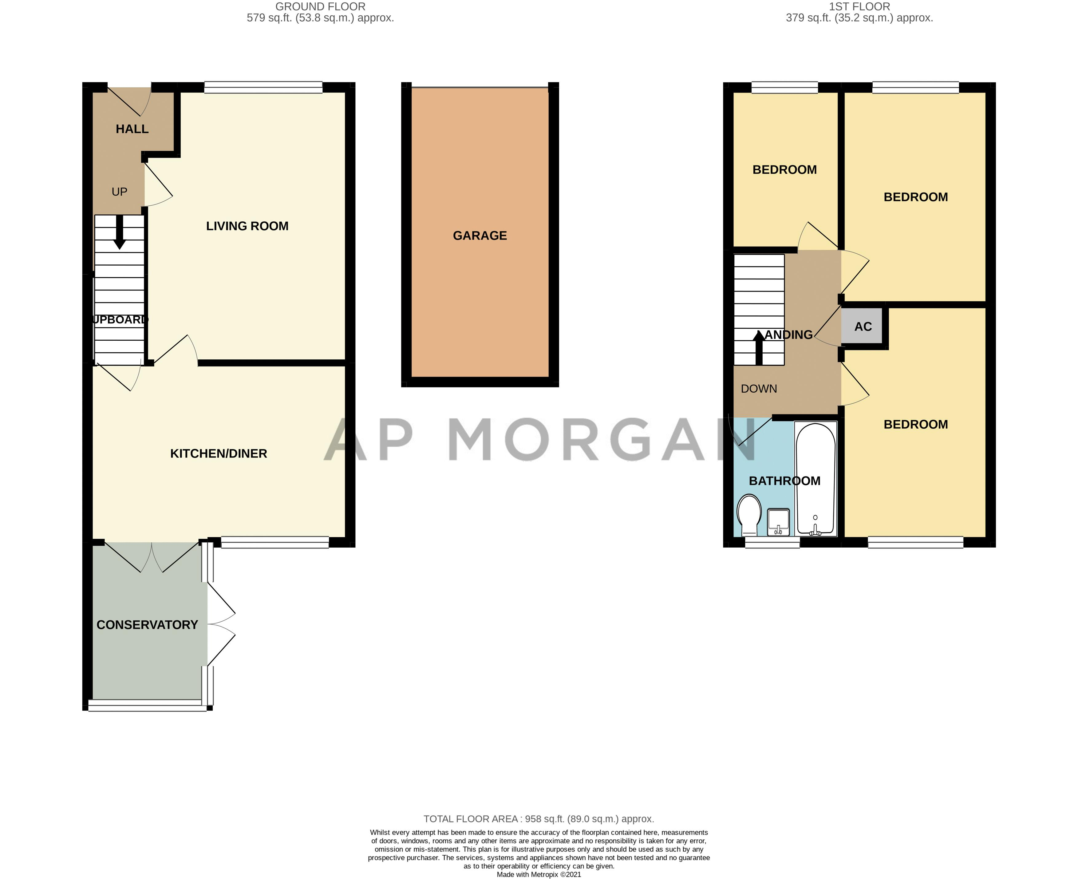 3 bed house for sale in Mill Brook Drive - Property Floorplan