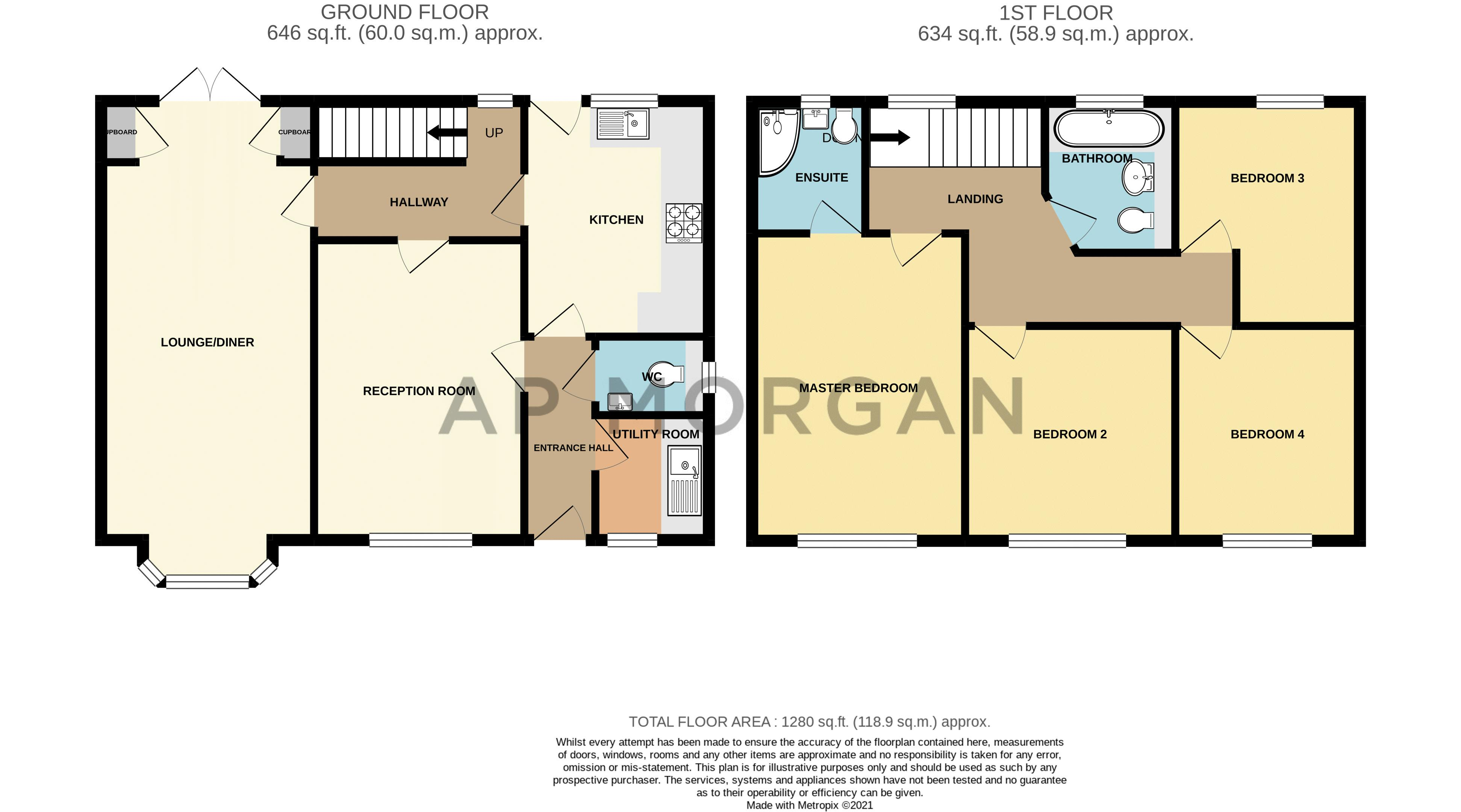 4 bed house for sale in Gorse Green Lane - Property Floorplan