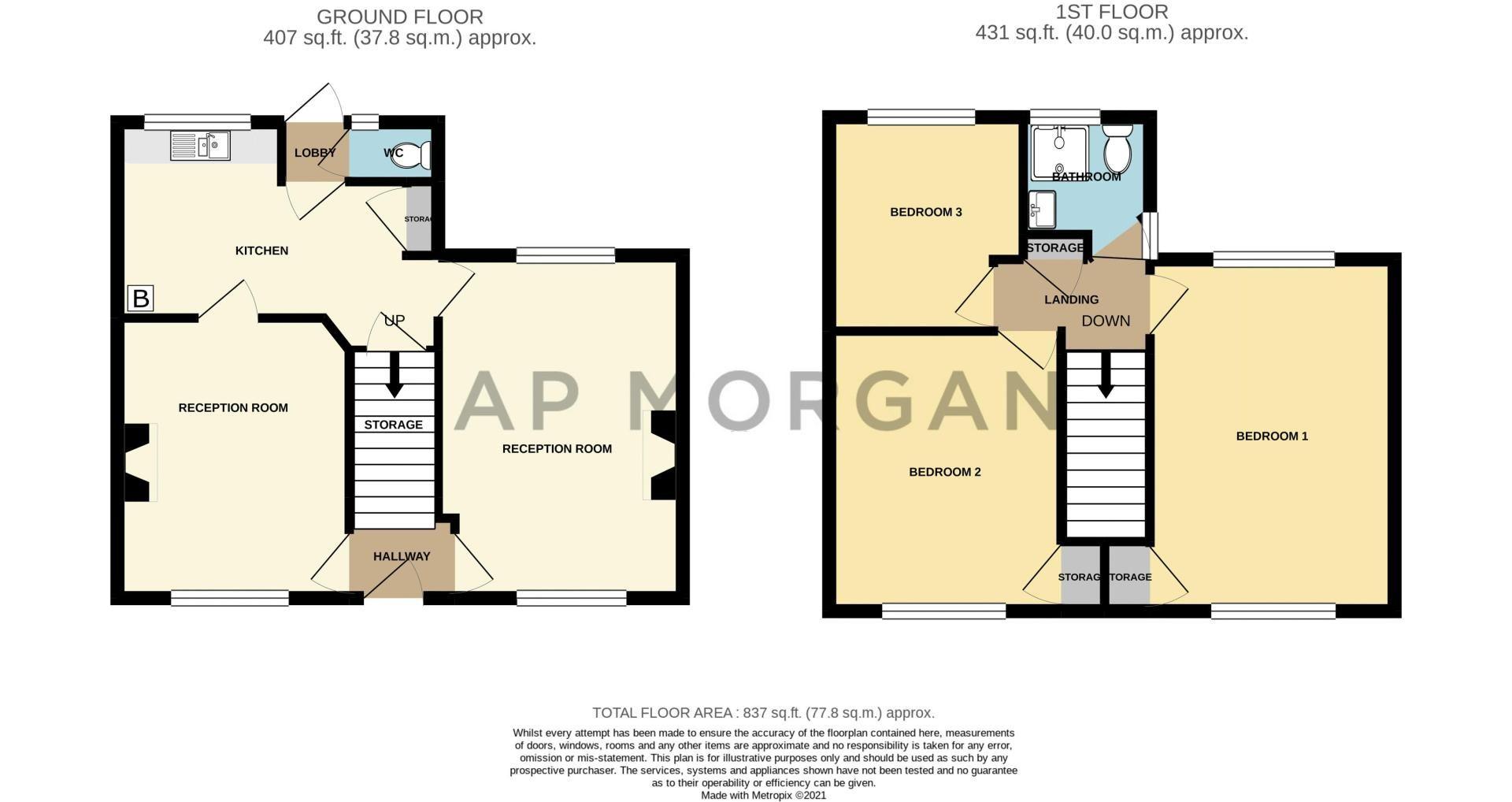 3 bed house for sale in Regis Road - Property Floorplan