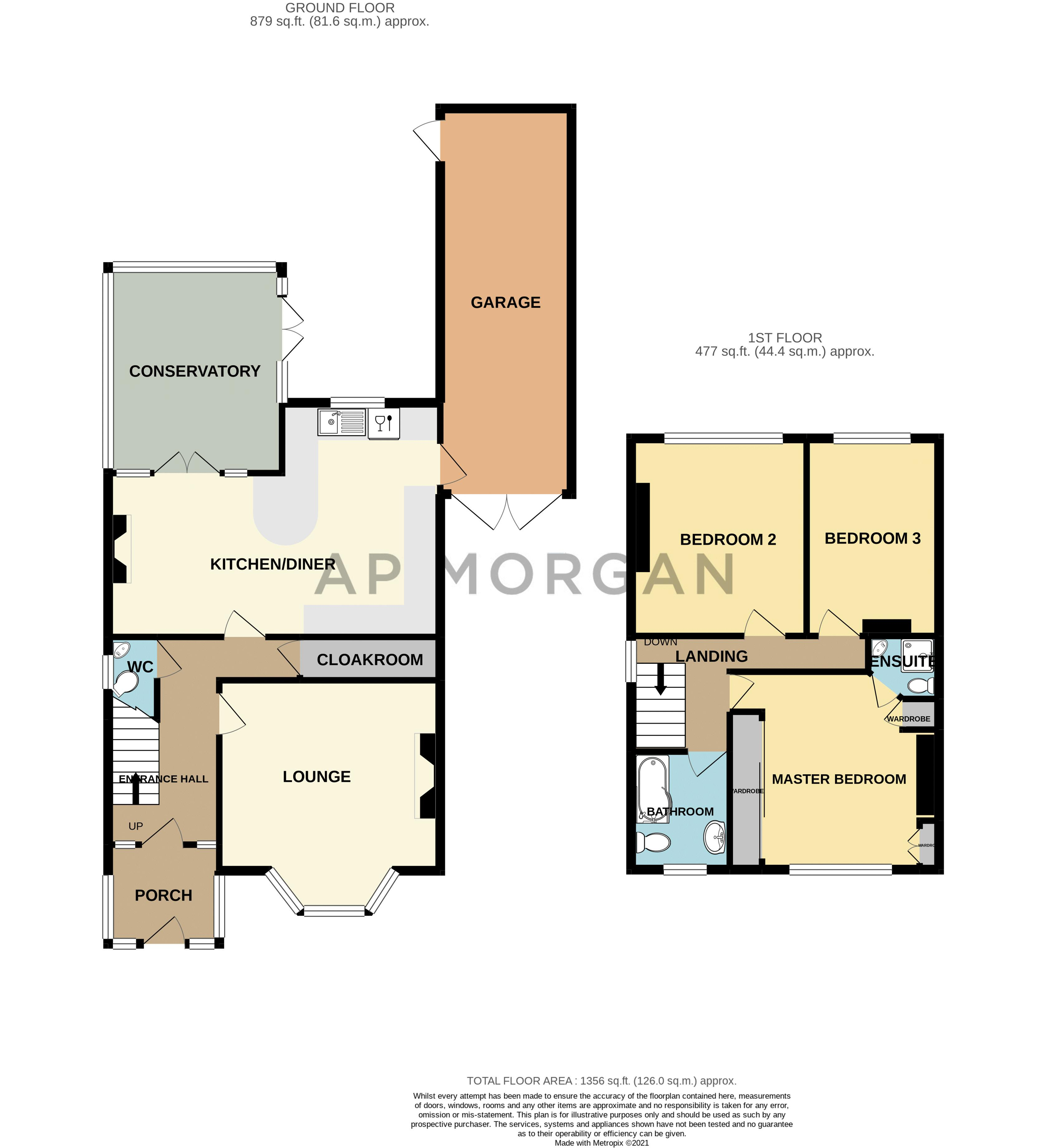 3 bed house for sale in Chawn Hill - Property Floorplan
